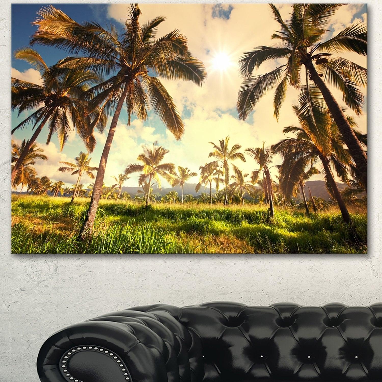 Designart \'Beautiful Palm Plantation in Hawaii\' African Landscape ...