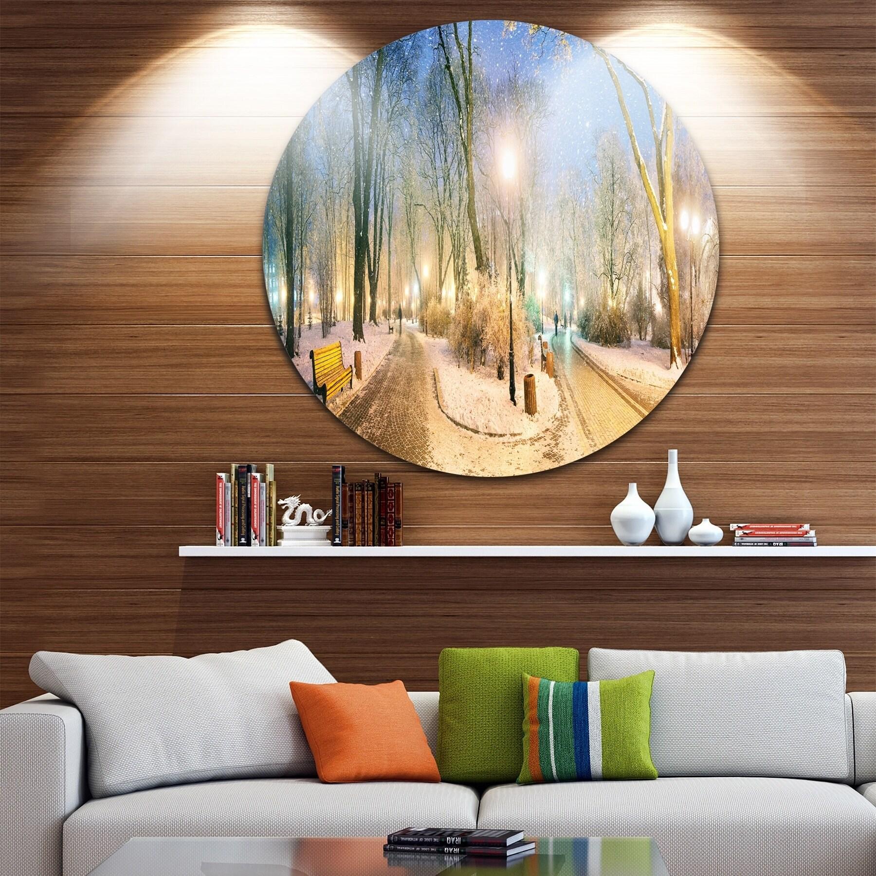 Shop Designart \'Marrinsky Garden Panorama\' Landscape Photo Round ...