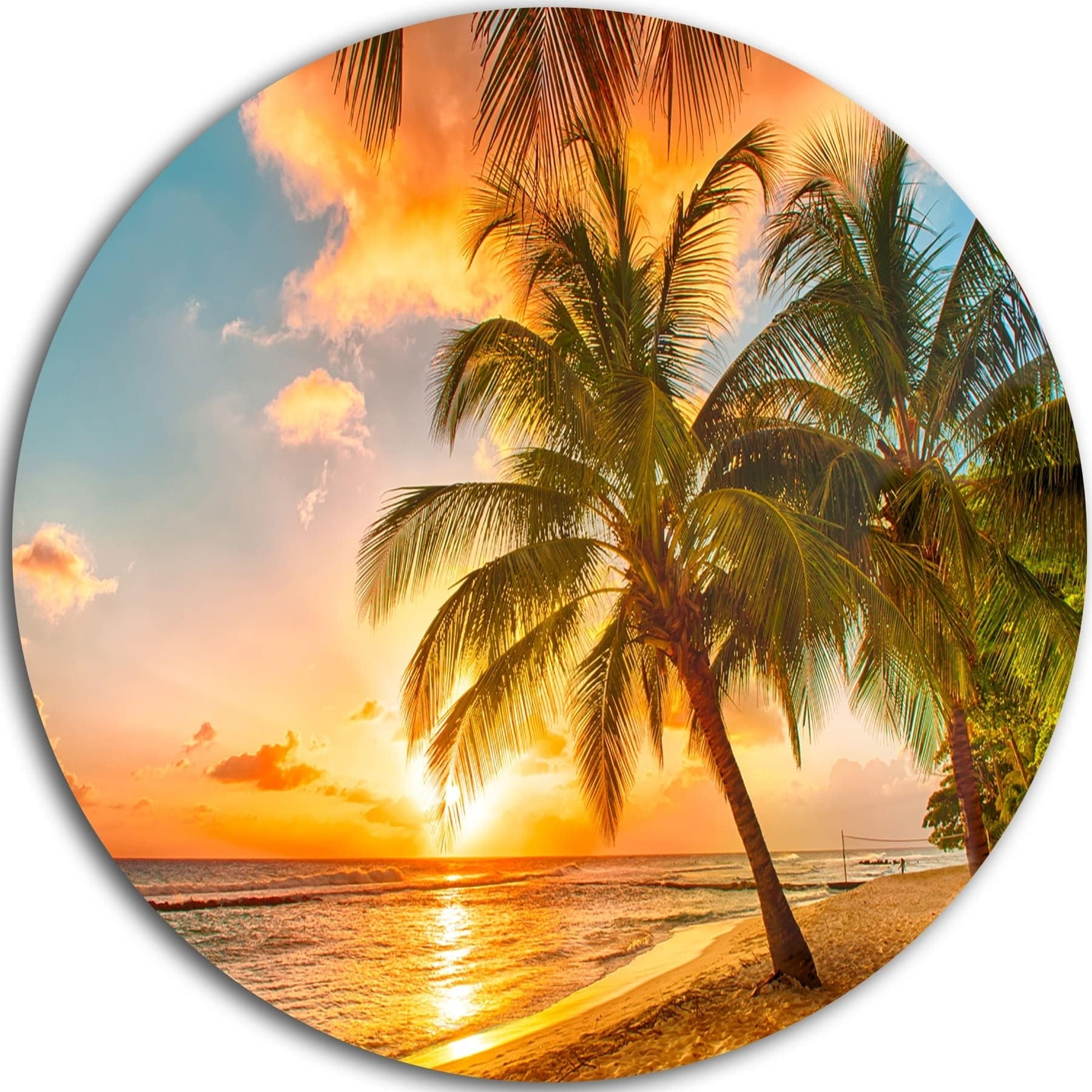 Outstanding Metal Palm Wall Decor Picture Collection - The Wall Art ...