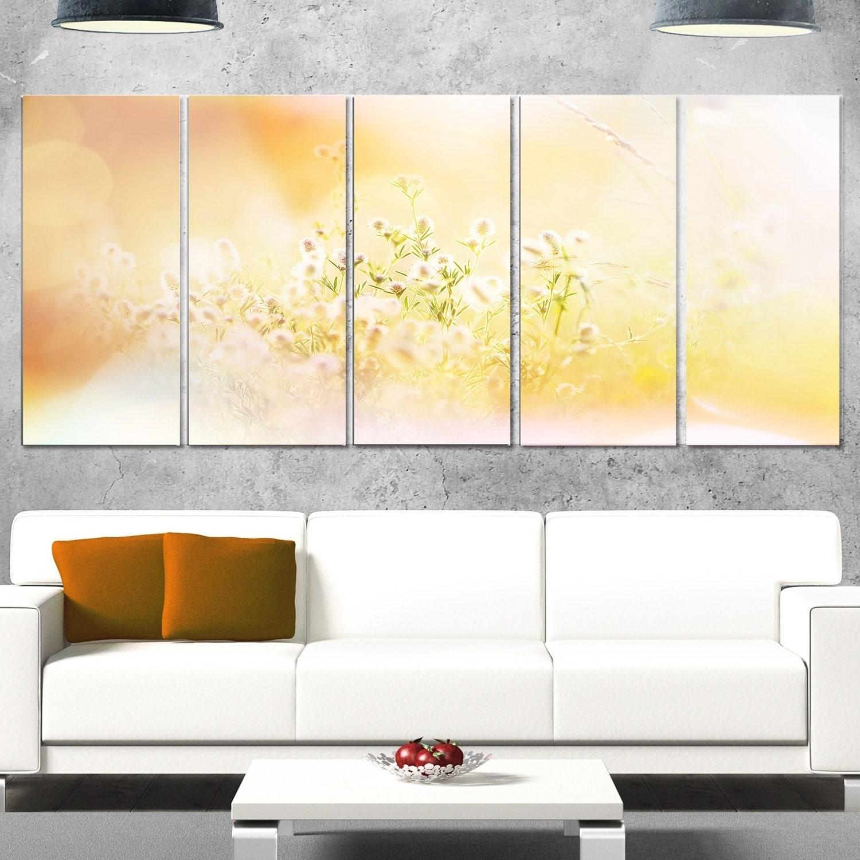 Designart \'Wild Purple Flowers on Light Background\' Large Flower ...