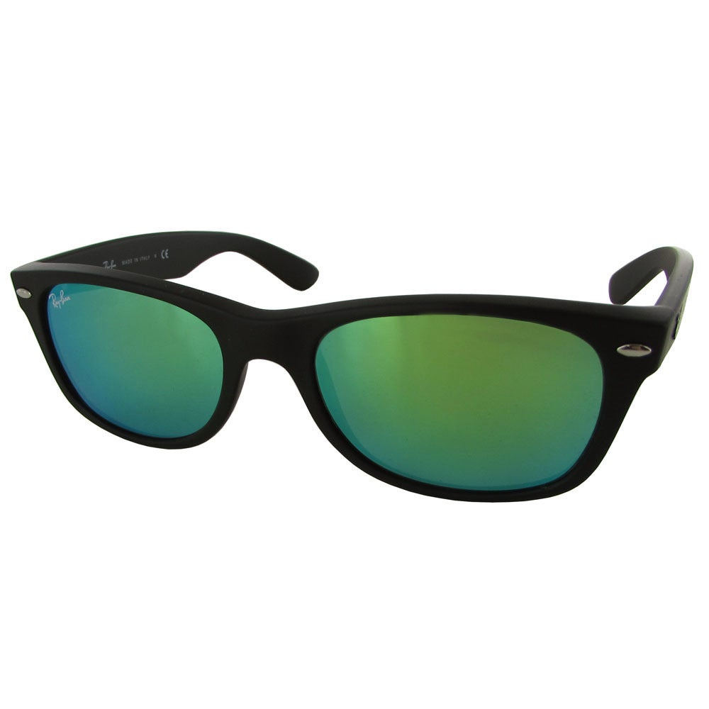 bd7604a5bd Ray-Ban New Wayfarer Classic RB2132 Women Black Frame Blue Lens Sunglasses