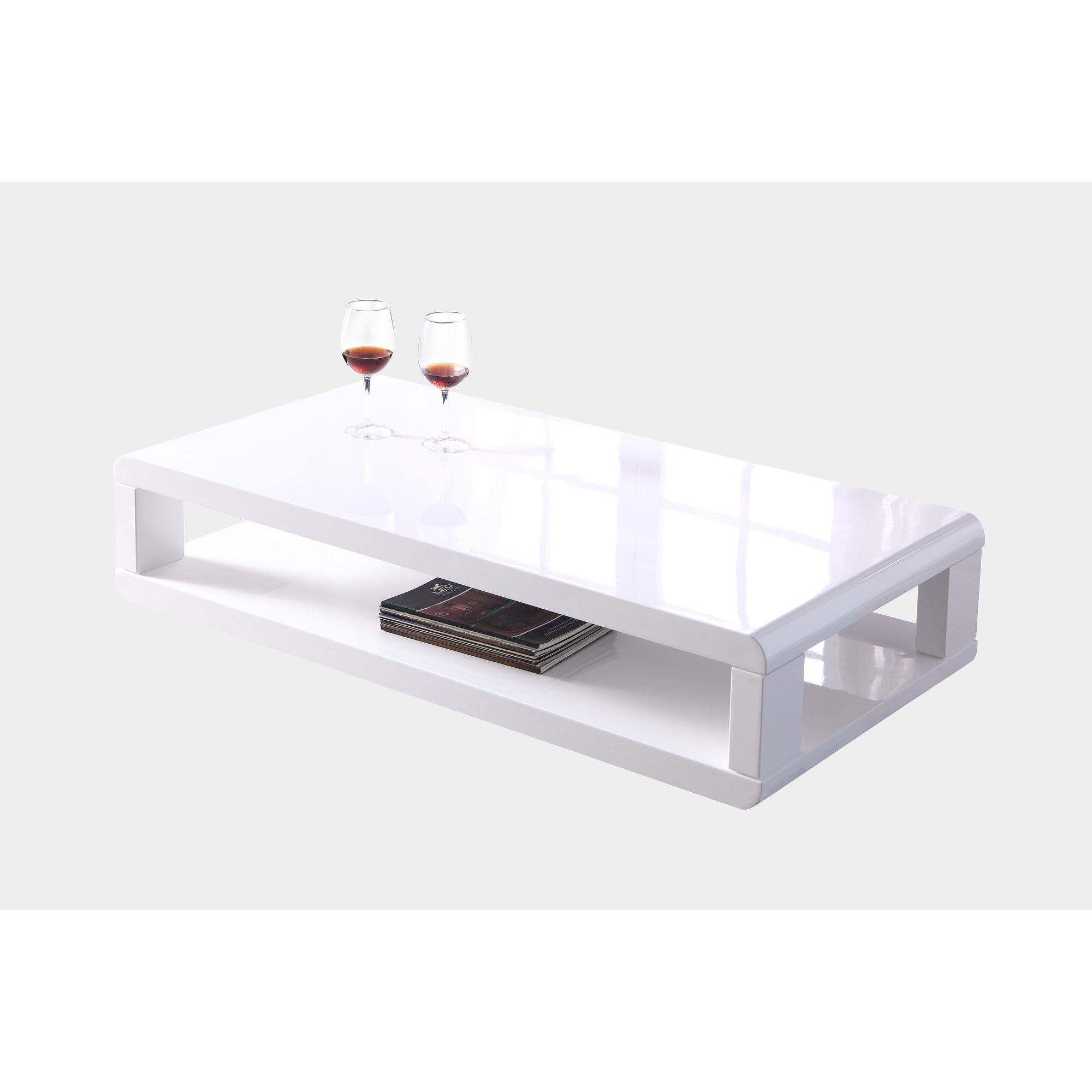 Shop artiva casa 48 modern euro white lacquered high gloss coffee table free shipping today overstock com 19733674