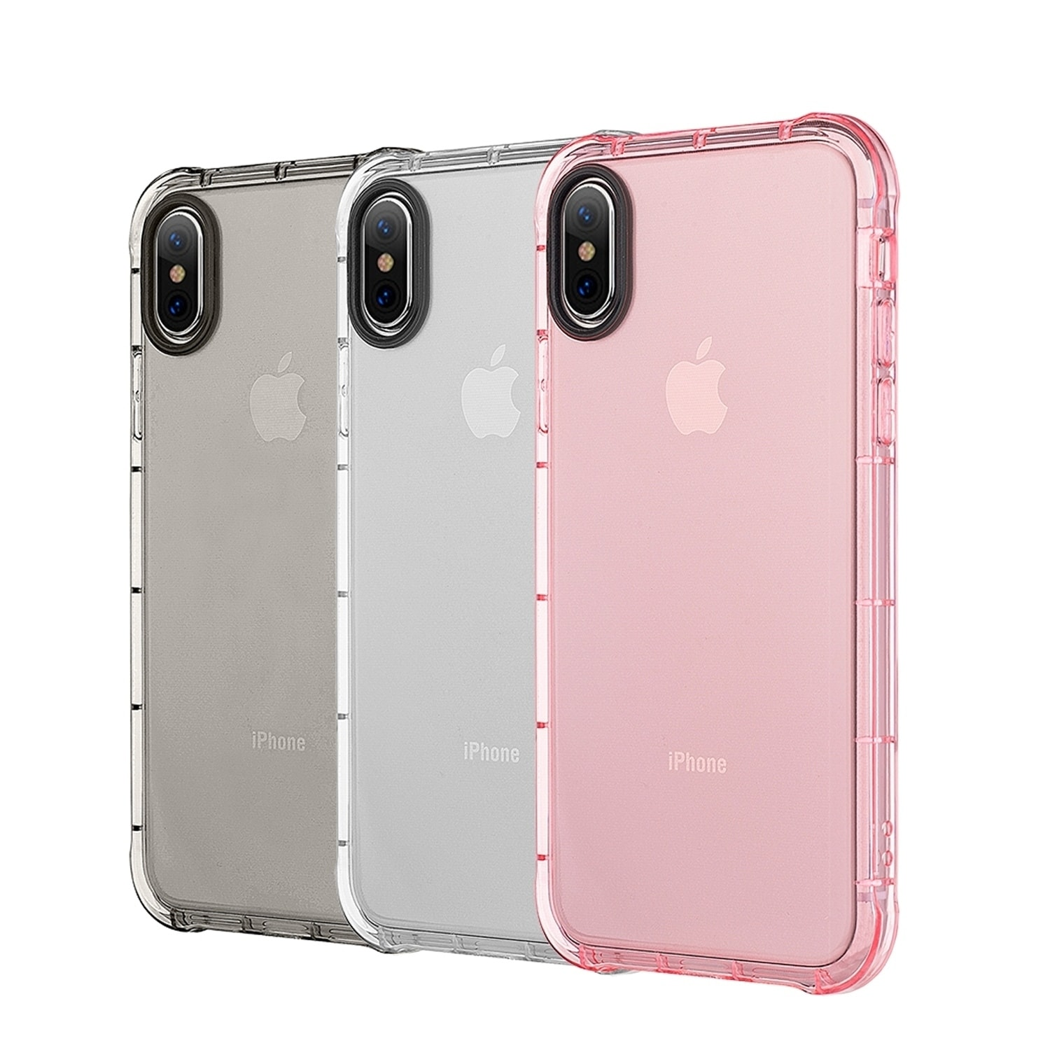 buy popular 18a34 3f906 Iphone X Duraproof Transparent Anti-Shock Tpu Case