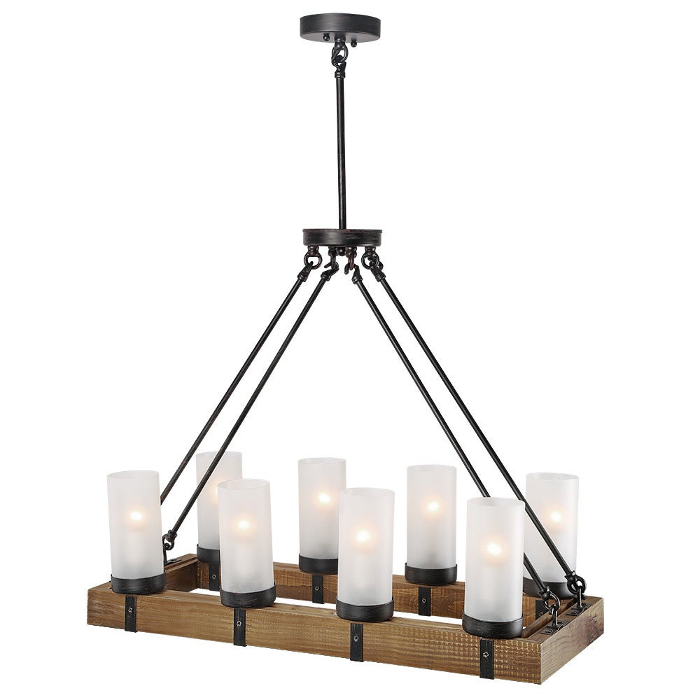 metal and wood chandelier. LNC Wood Chandeliers Kitchen Island Chandelier Lighting 8-light Pendant Lights - Free Shipping Today Overstock 25685792 Metal And
