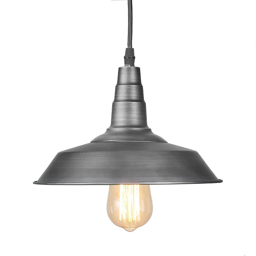 Lnc 1 Light Barn Pendant Lamp Gunmetal Lighting Warehouse Ceiling Lights Free Shipping Today 19742562
