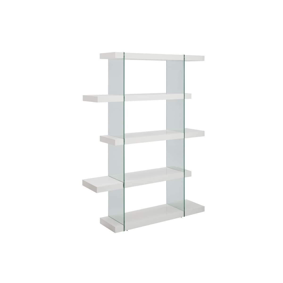 Il Vetro High Gloss White Lacquer Bookcase By Casabianca Home Free Shipping Today 19744091