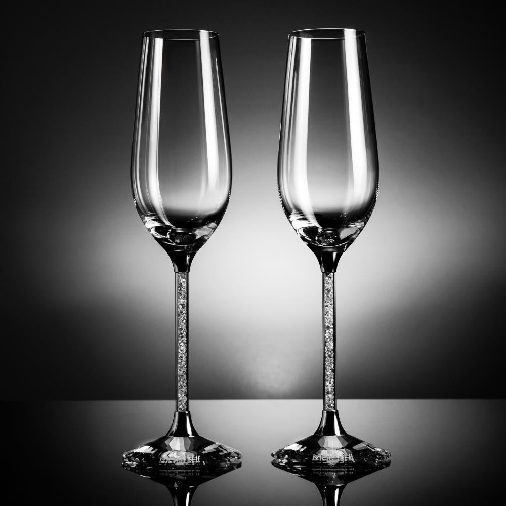 8e2b6f523410 Shop Matashi Set of 2 Luxurious 8 oz. Crystal Champagne Toasting Flutes -  Free Shipping Today - Overstock - 19744121