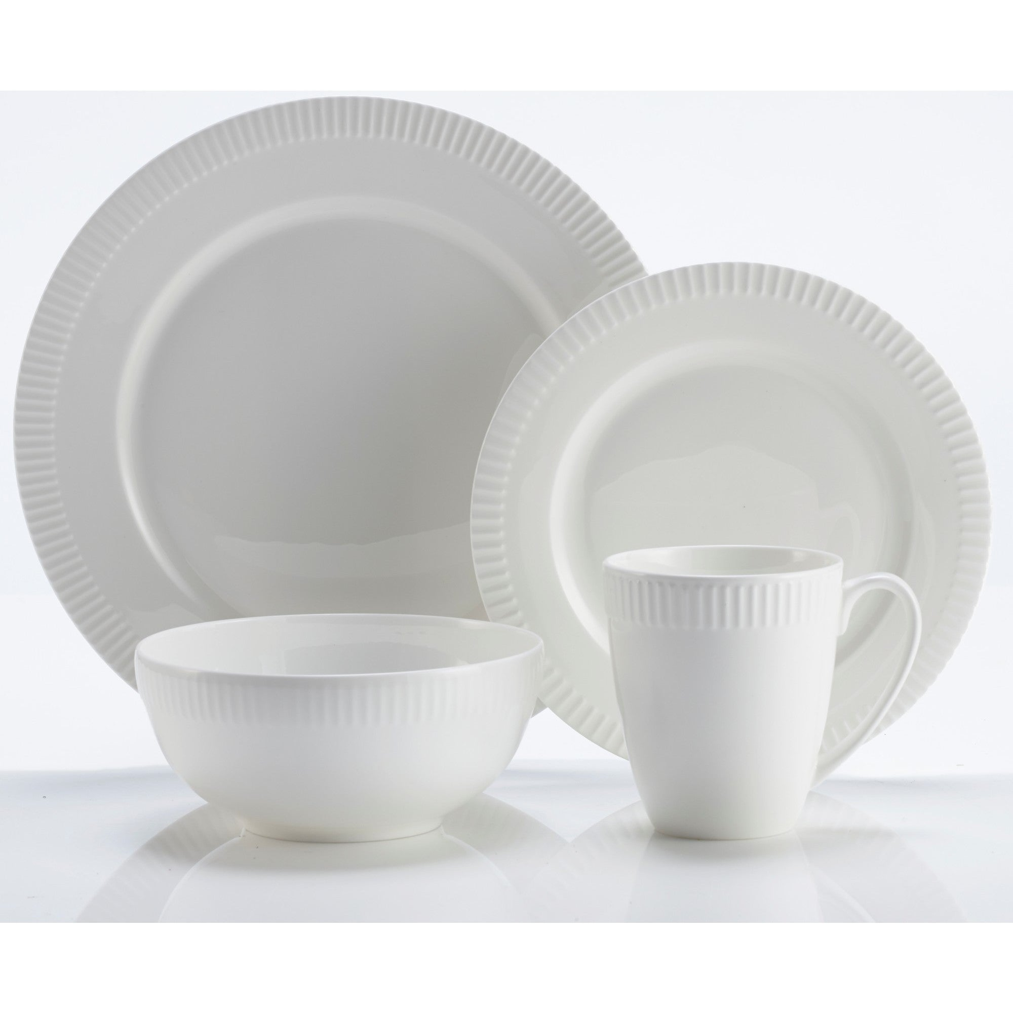 Shop Roscher 32-Piece Pie Crust China Microwave u0026 Dishwasher Safe High Quality Dinnerware Set For Stylish Everyday Dining - Free Shipping Today ...  sc 1 st  Overstock & Shop Roscher 32-Piece Pie Crust China Microwave u0026 Dishwasher Safe ...