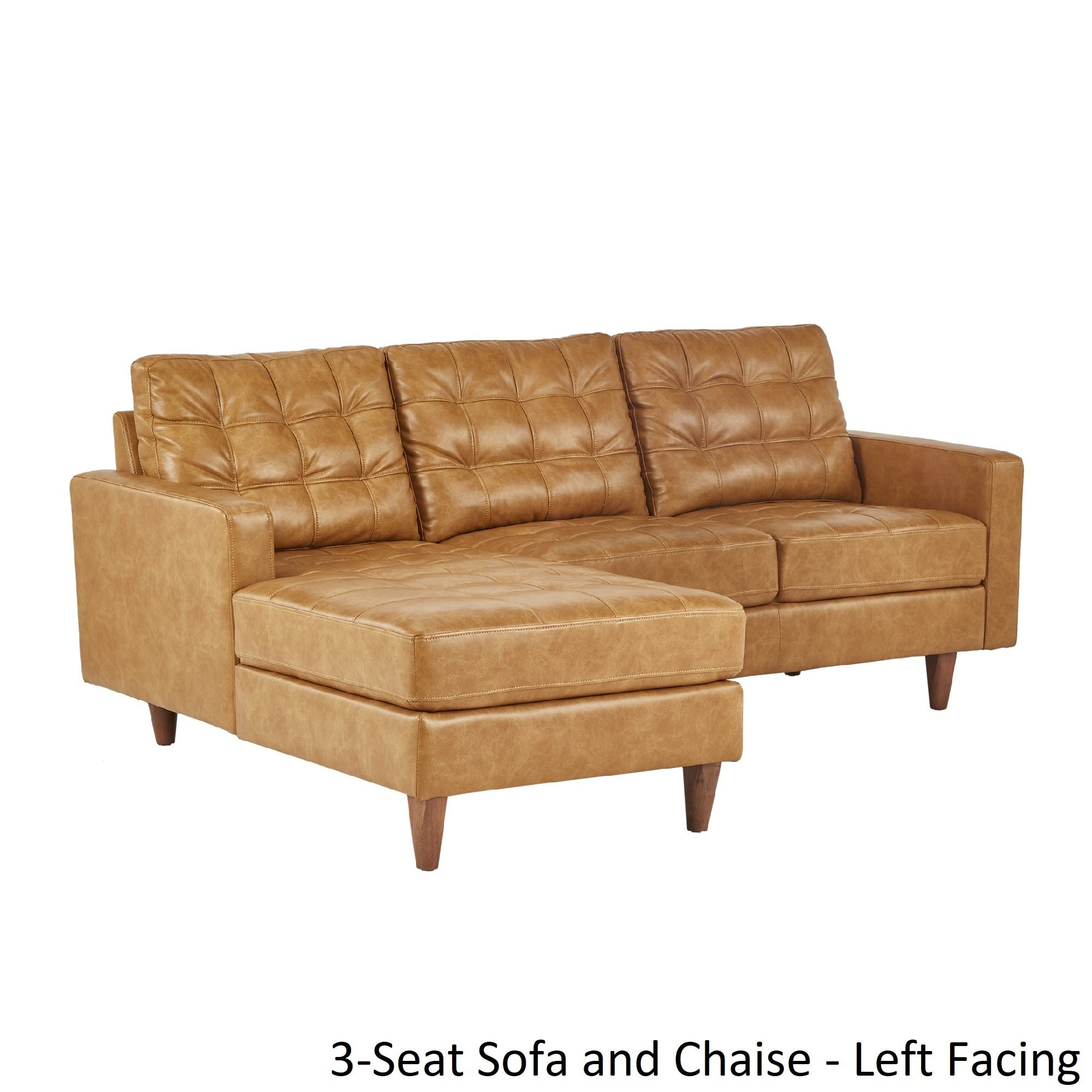 Genial Shop Odin Caramel Leather Gel Sofa Sectional With Chaise By INSPIRE Q  Modern   Free Shipping Today   Overstock.com   19745558