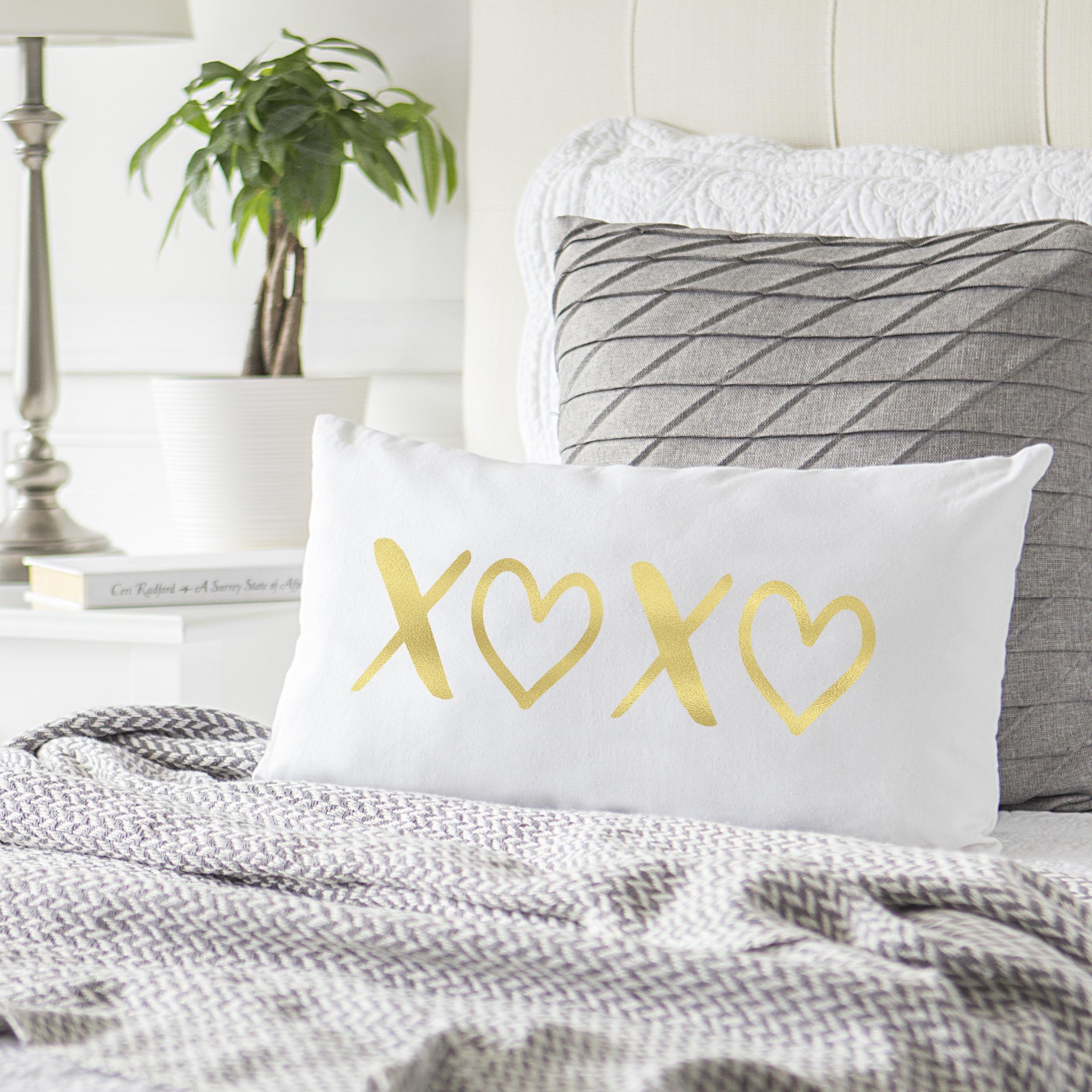 xoxo furniture. Xoxo Furniture. Gold Foil XOXO Lumbar Pillow - Free Shipping On Orders Over $45 Overstock Furniture O