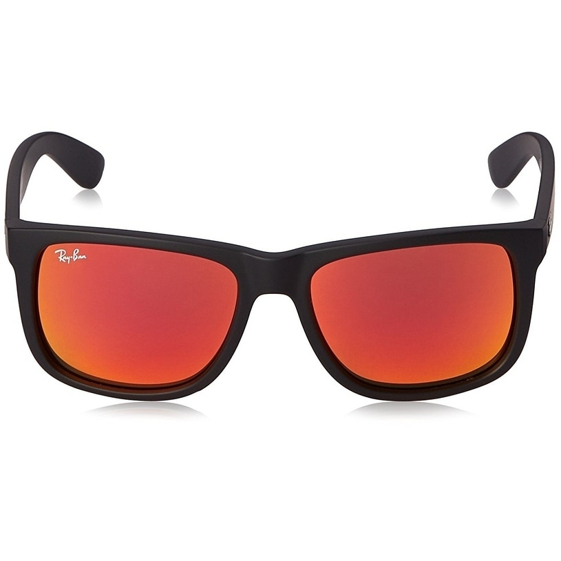 ed716e8ee51 ... cheap shop ray ban mens rb4165 justin black frame red mirror 51mm lens  sunglasses free shipping
