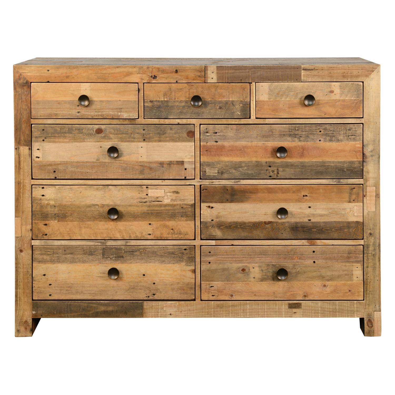 w raw ea wood metal chest drawers dresser madison frame