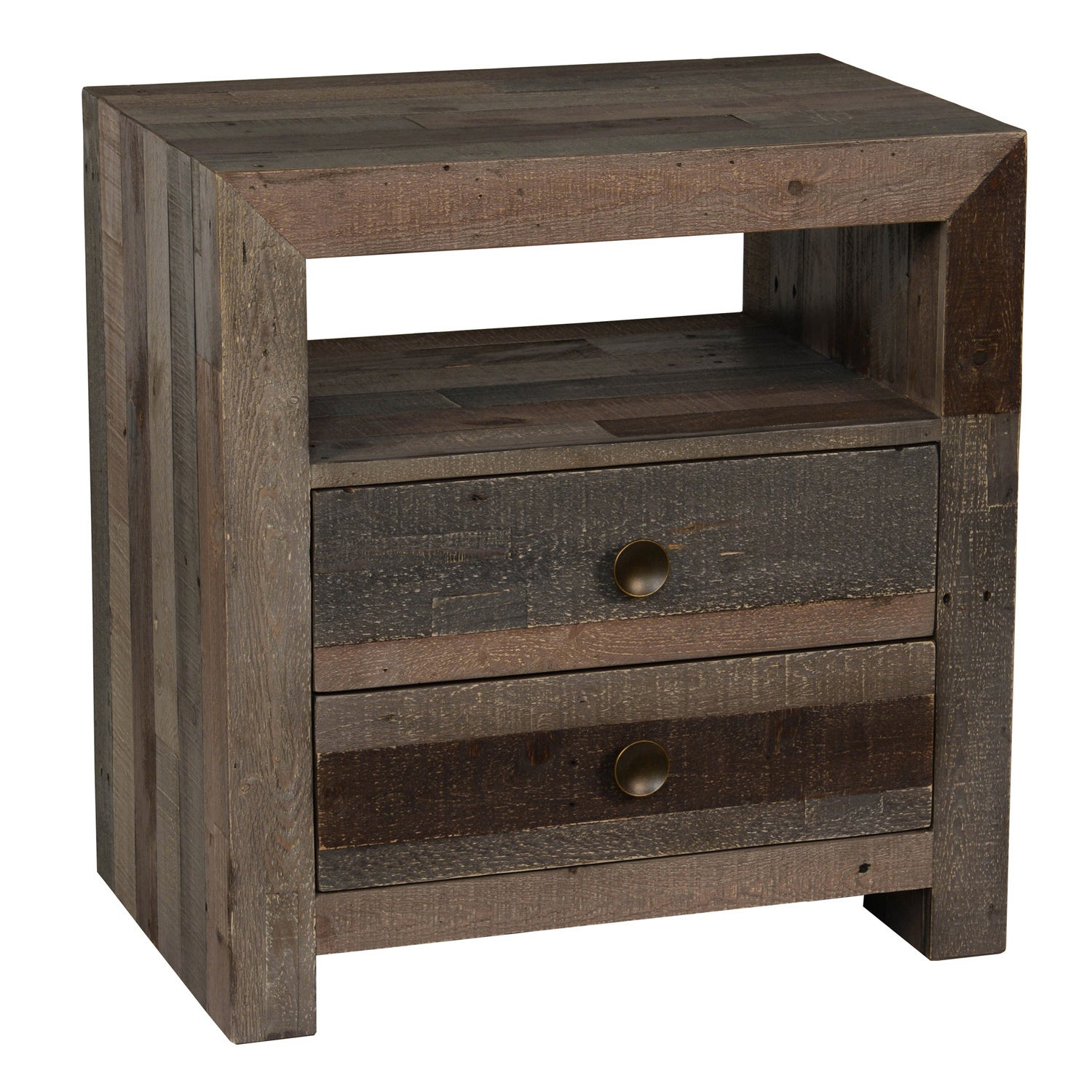 Unique The Gray Barn Cocklebur Reclaimed Wood 2-drawer Nightstand - Free  JS54