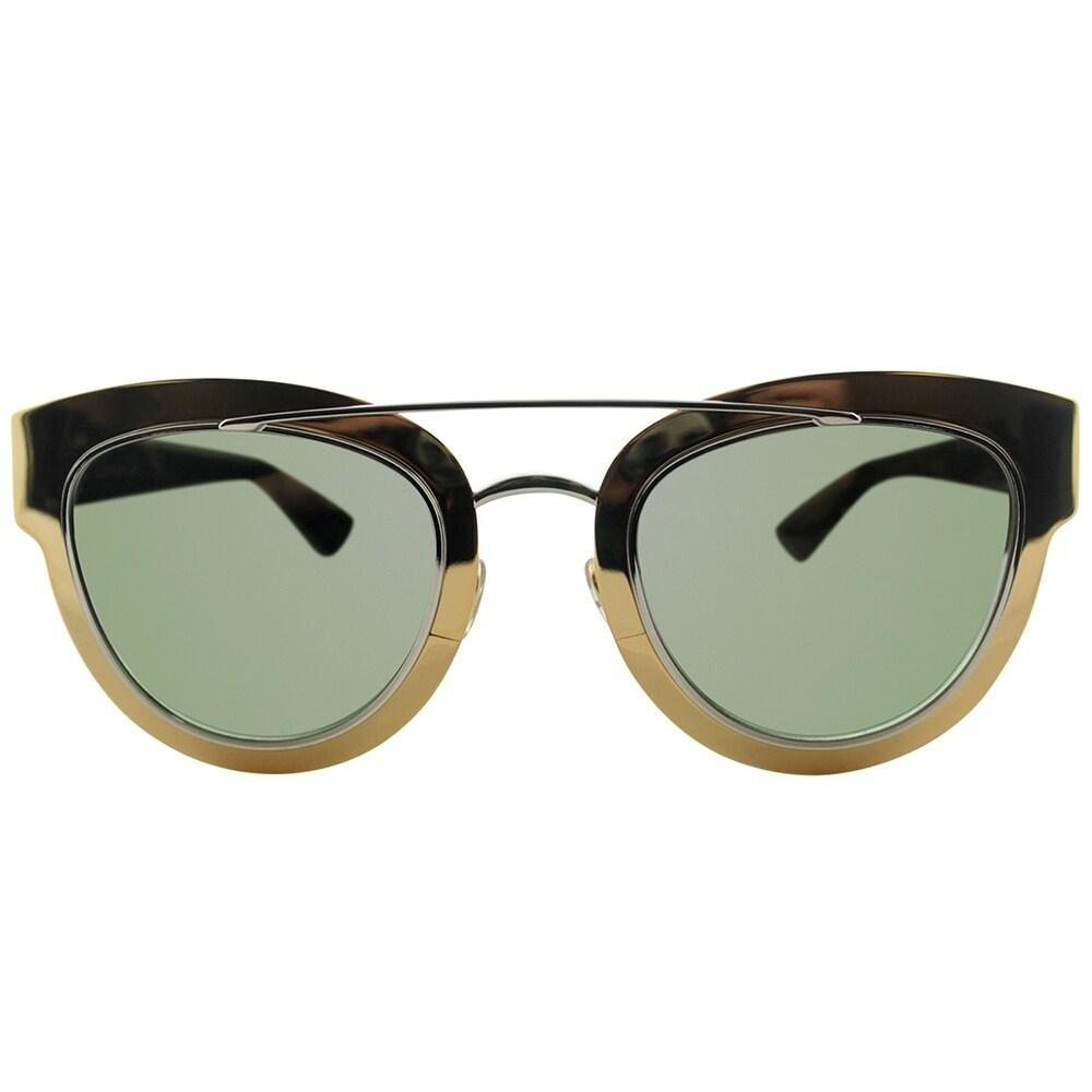 a331b21e812 Shop Dior Cat-Eye Chromic LML 9F Women Gold Palladium Blue Frame Gold Mirror  Lens Sunglasses - Free Shipping Today - Overstock - 19755052