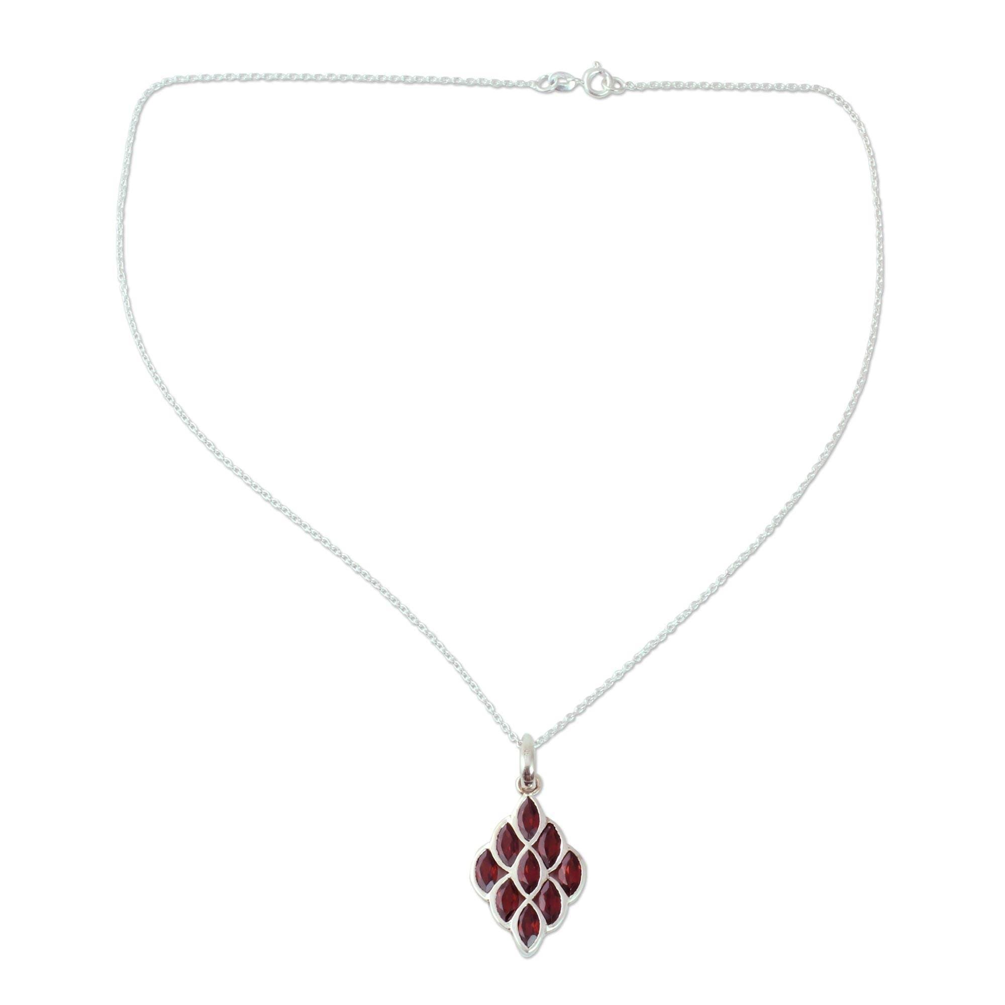 wendy rhodolite garnet necklace pendant nichol products