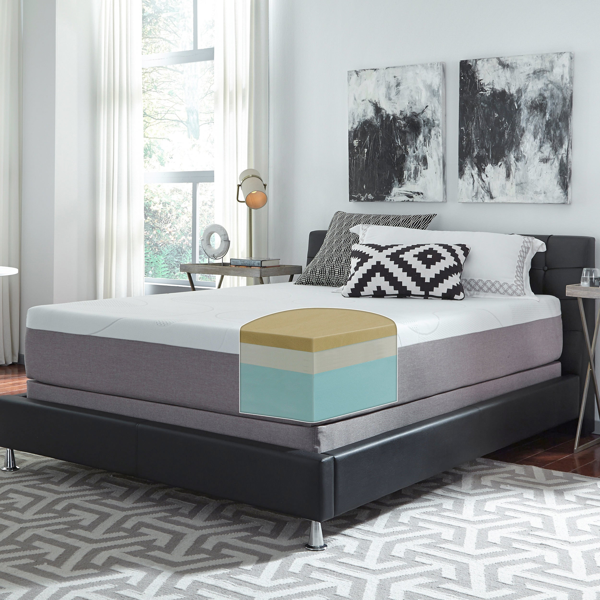 slumber mattress in a box. Slumber Solutions Choose Your Comfort Memory Foam 12-inch King-size Mattress Set - Free Shipping Today Overstock 25697472 In A Box