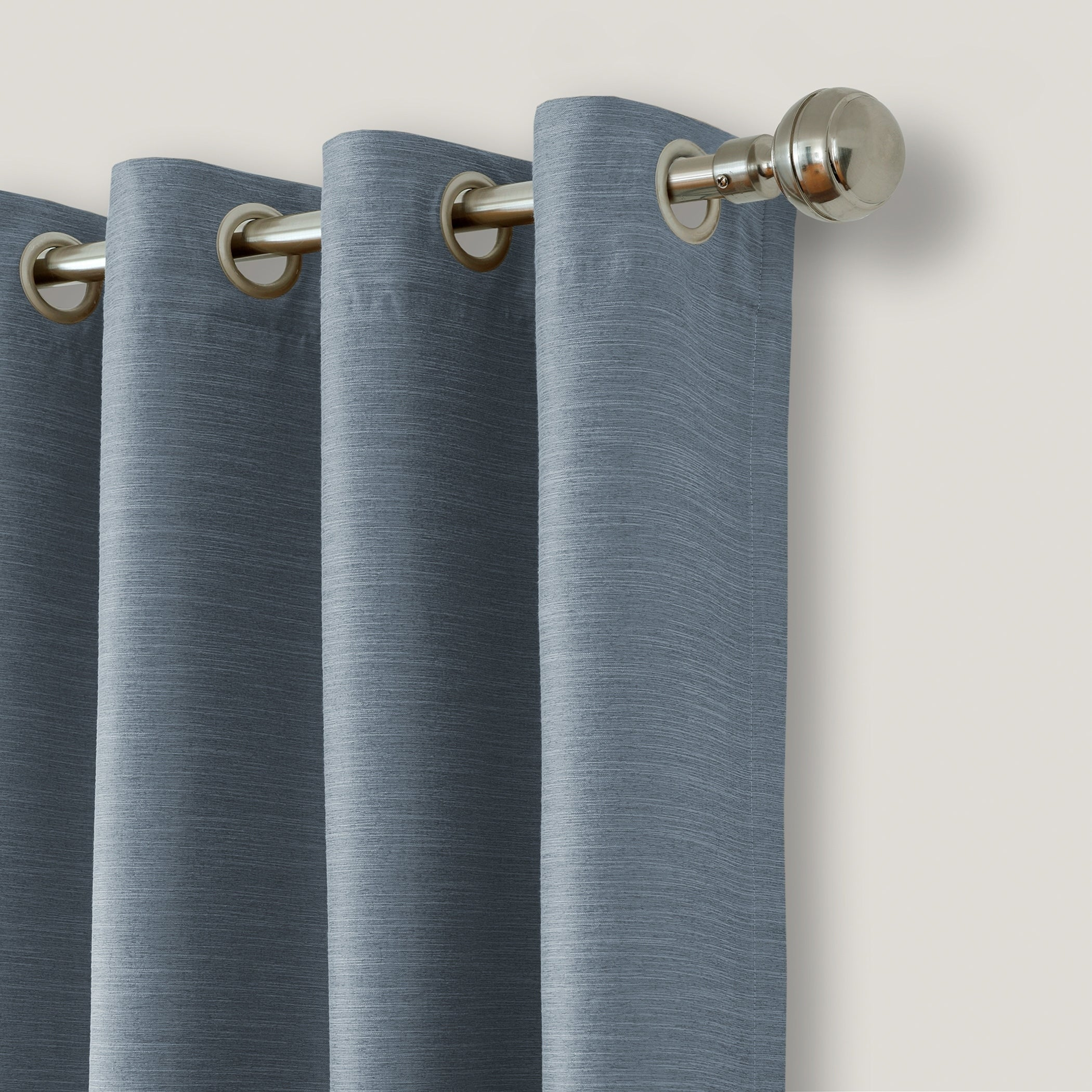sheer mix panel drapes heathered x set garden product blackout denim look aurora curtain linen match with home muji free today overstock and pair grommet piece shipping