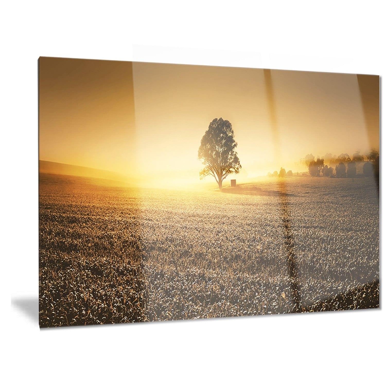 Shop Designart \'Farmland Panorama\' Landscape Photography Metal Wall ...