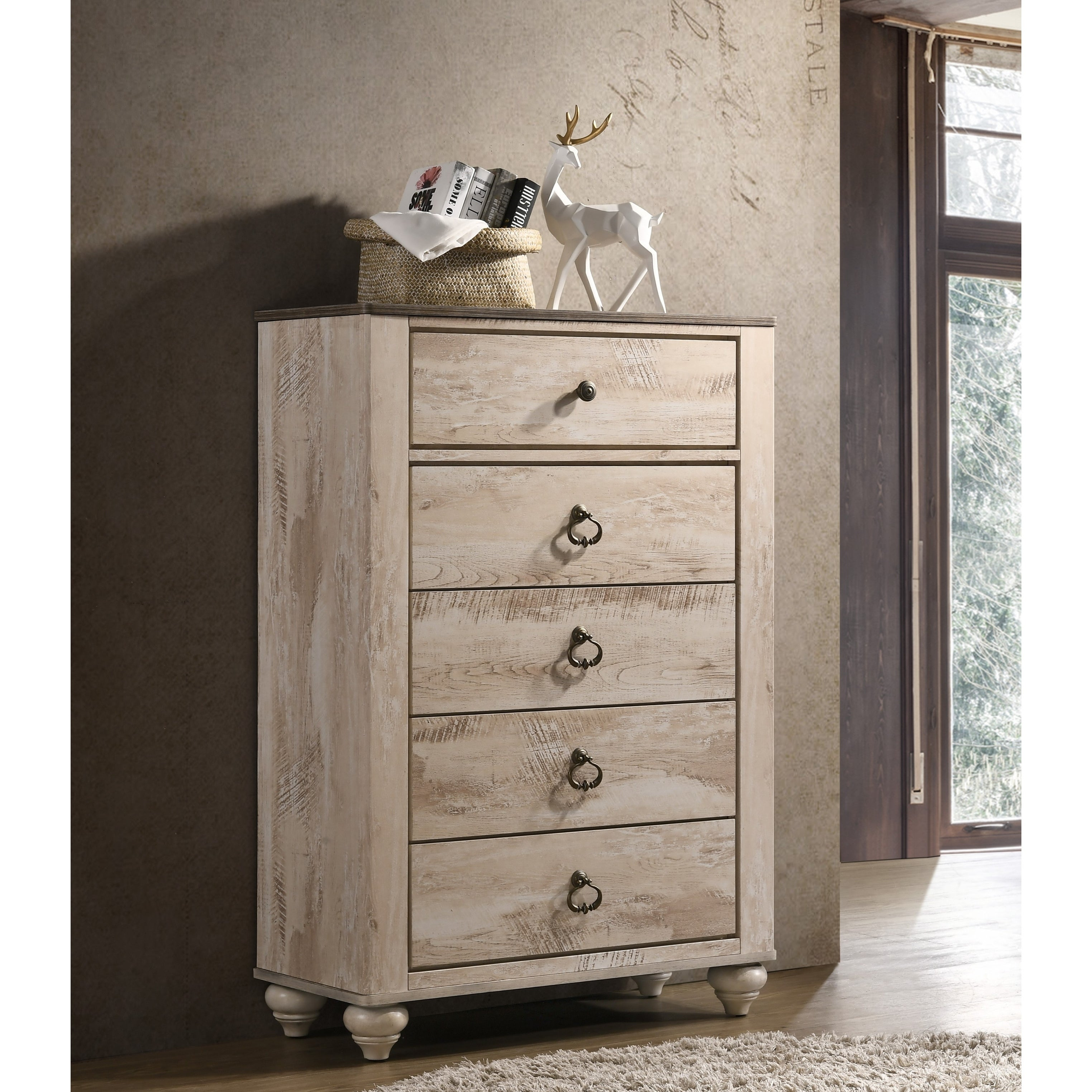 white wash dresser. Shop Imerland Contemporary White Wash Finish 6-Piece Bedroom Set, King - Free Shipping Today Overstock.com 19758673 Dresser W