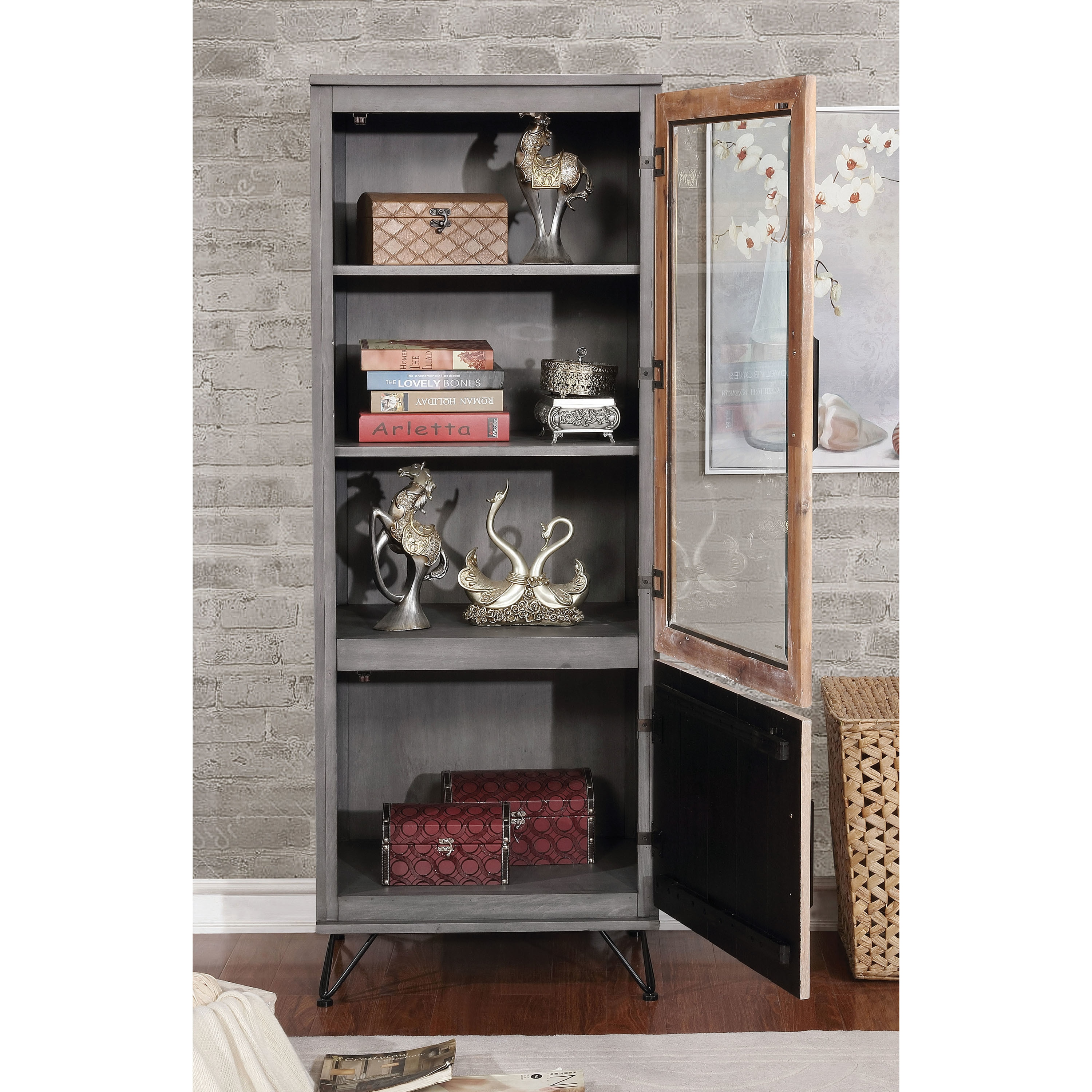 Furniture Of America Freddie Contemporary Sawblade Style 2 Door Pier  Cabinet   Free Shipping Today   Overstock   25701529
