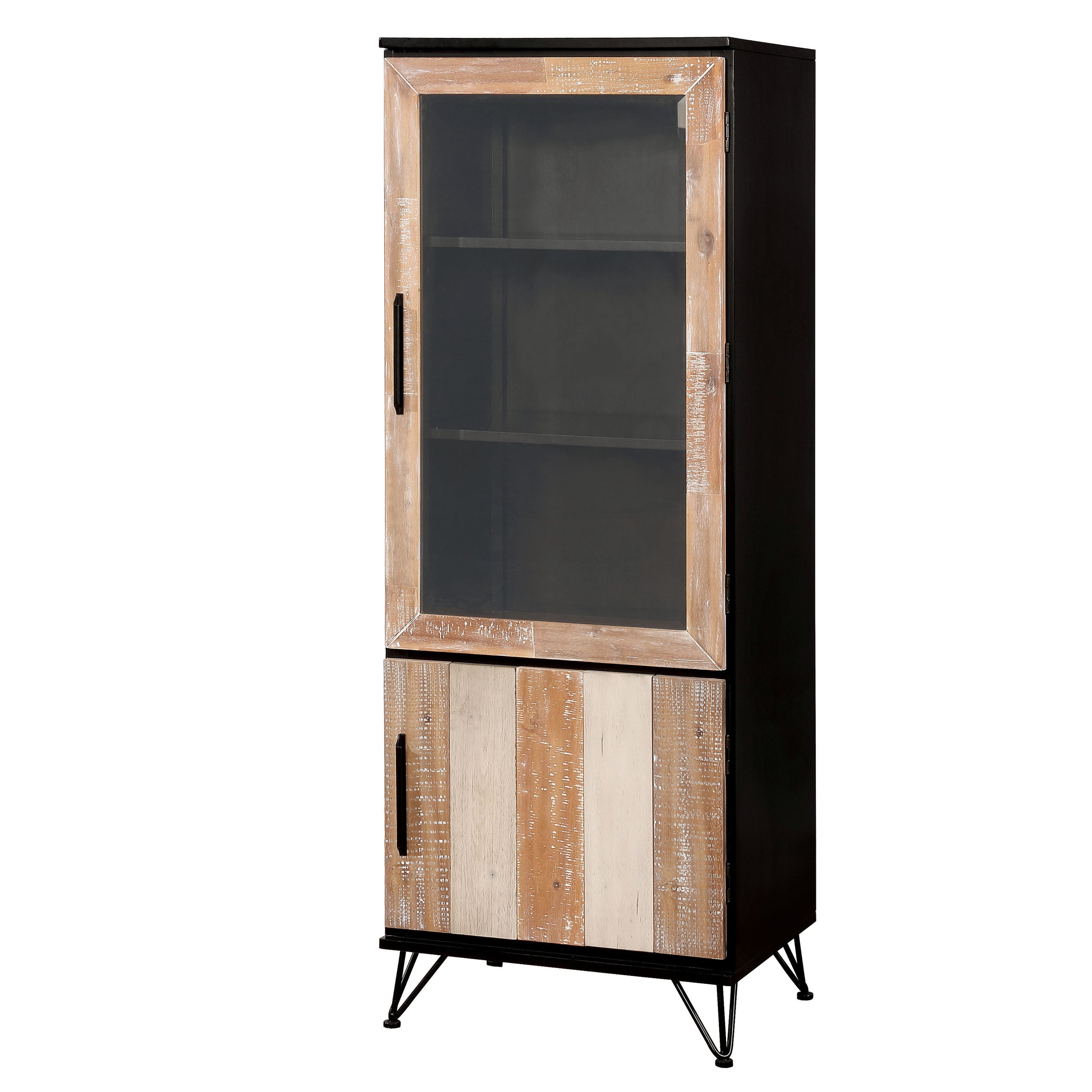 Attractive Furniture Of America Freddie Contemporary Sawblade Style 2 Door Pier  Cabinet   Free Shipping Today   Overstock   25701529