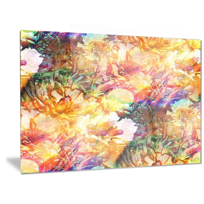 Designart \'Bokeh Flowers Seamless\' Floral Metal Wall Art - Free ...