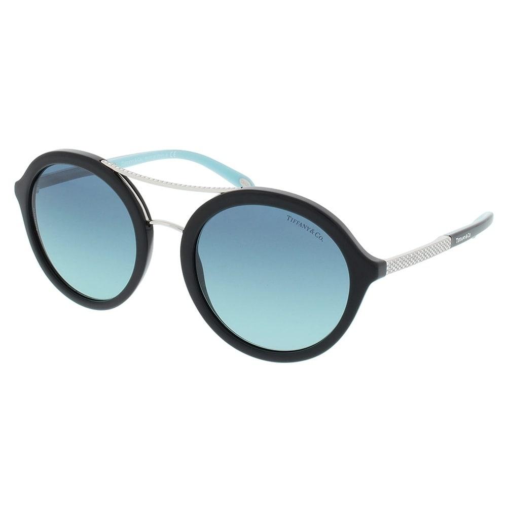 32654067a2 Round TF 4136B 80019S Women Black Frame Blue Gradient Lens Sunglasses