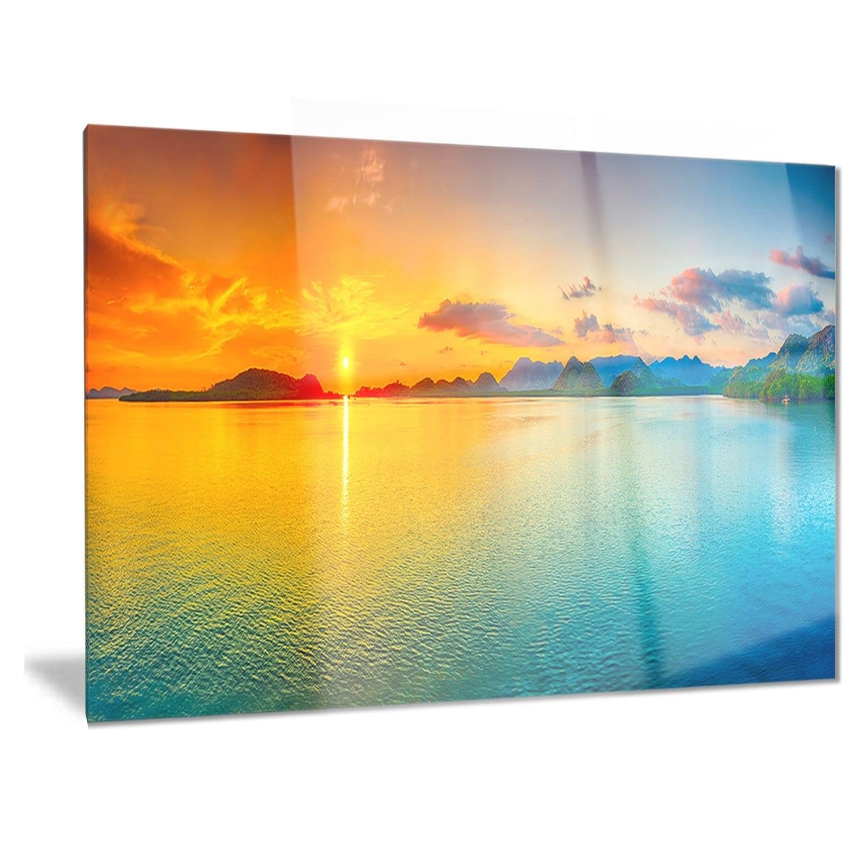 Designart \'Bright Sunset Panorama\' Photography Metal Wall Art - Free ...