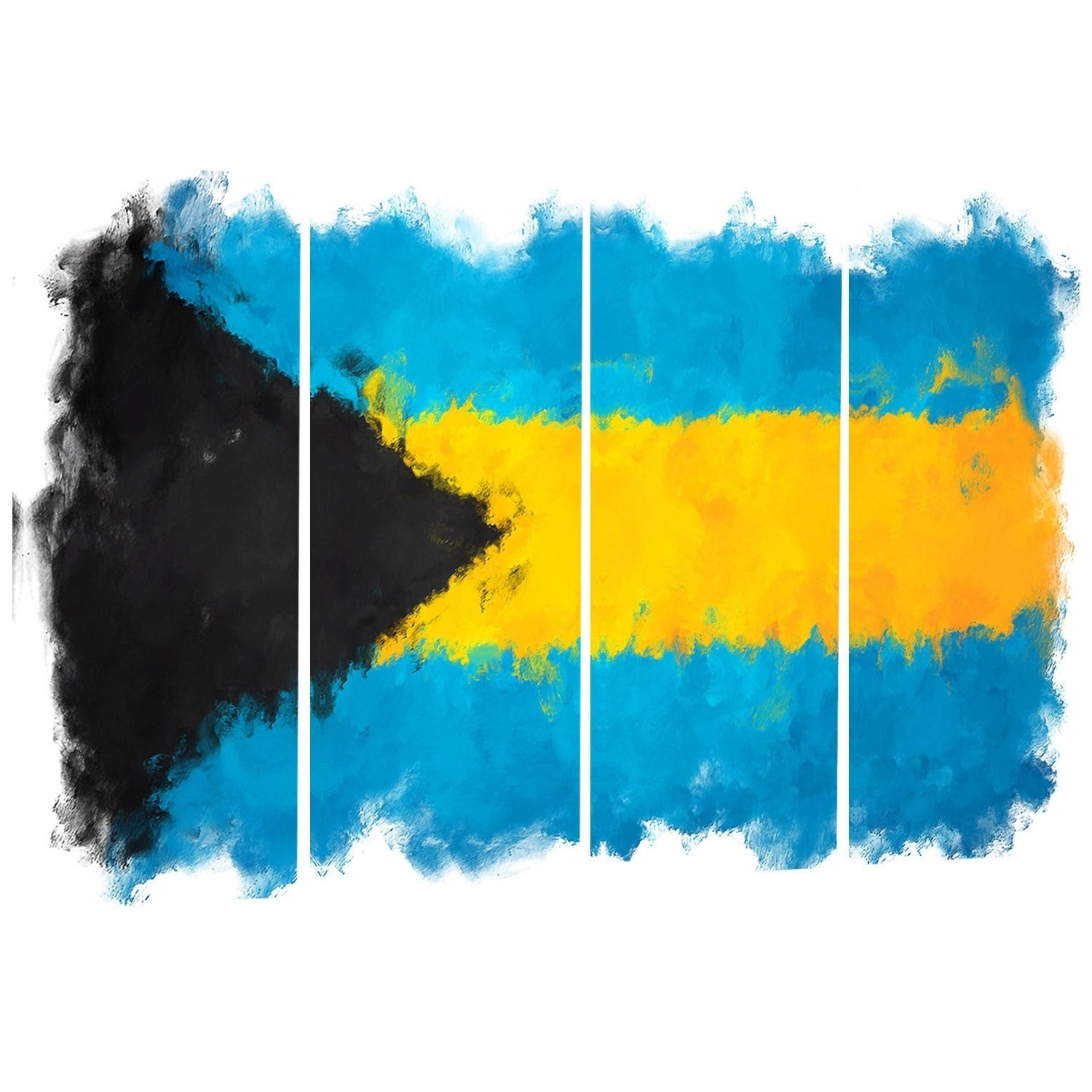 Designart \'Bahamas Flag Illustration\' Flag Painting Metal Wall Art ...