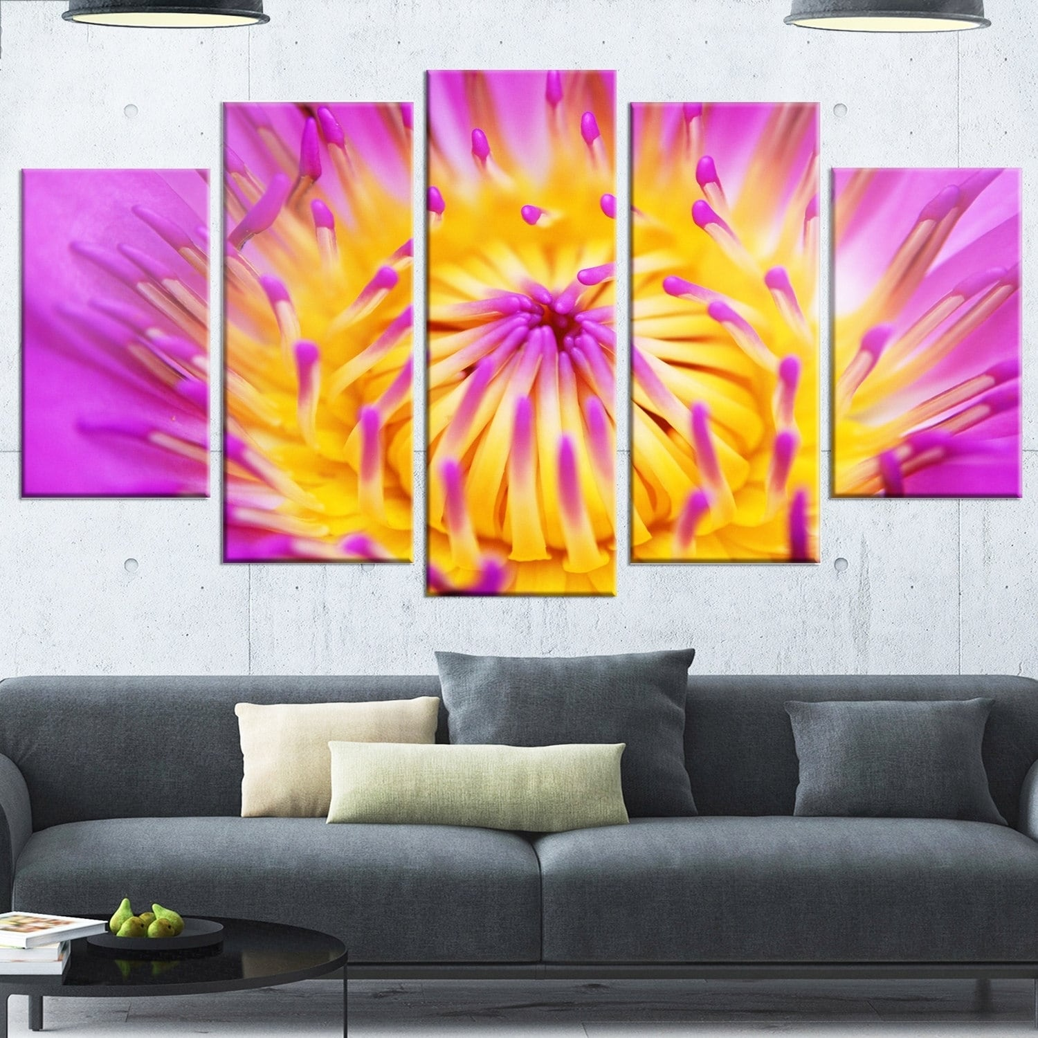 Charming Purple Metal Wall Art Contemporary - The Wall Art ...