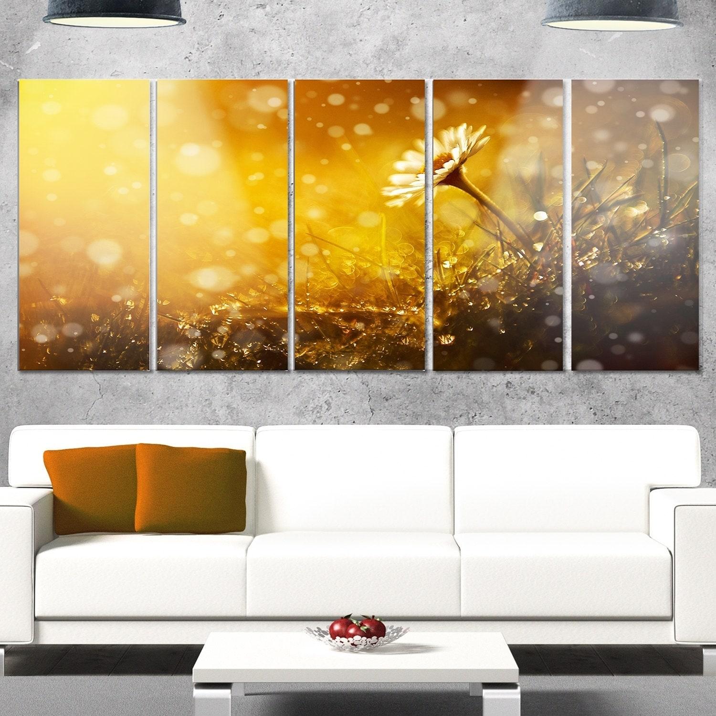 Designart \'Forest After Rain during Sunset\' Modern Flower Metal Wall ...