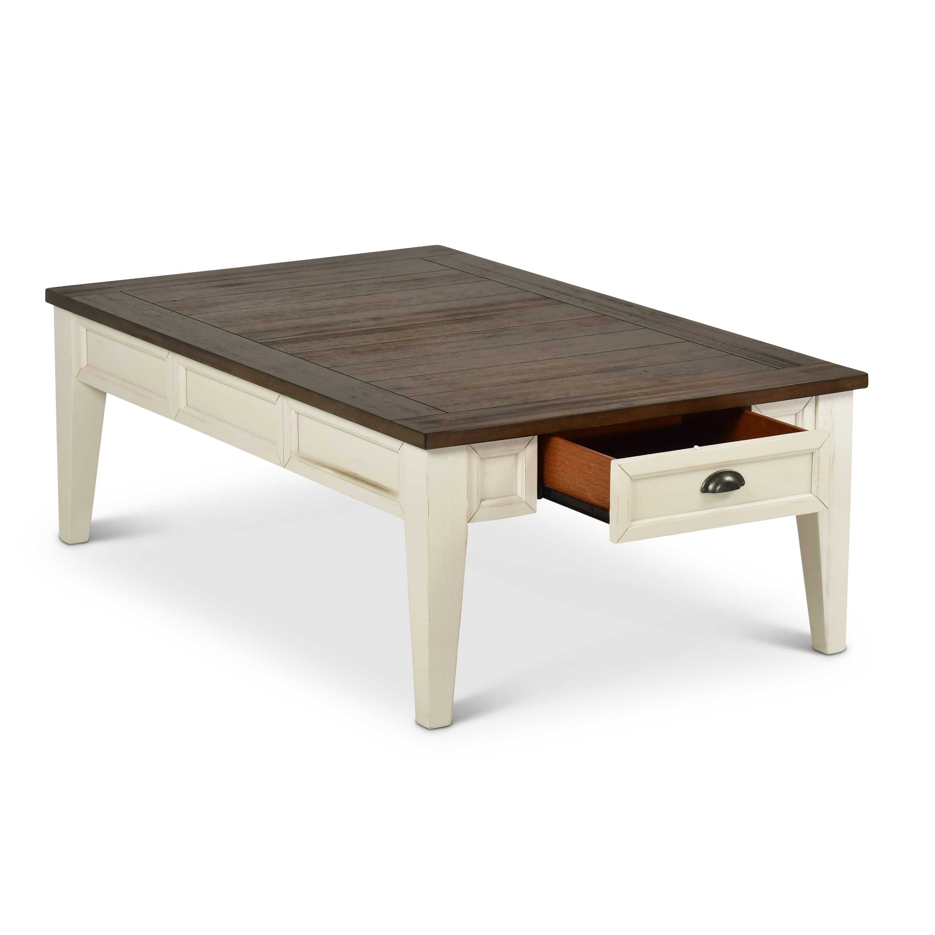 Shop cottonville two tone coffee table with storage by greyson living free shipping today overstock com 19789757
