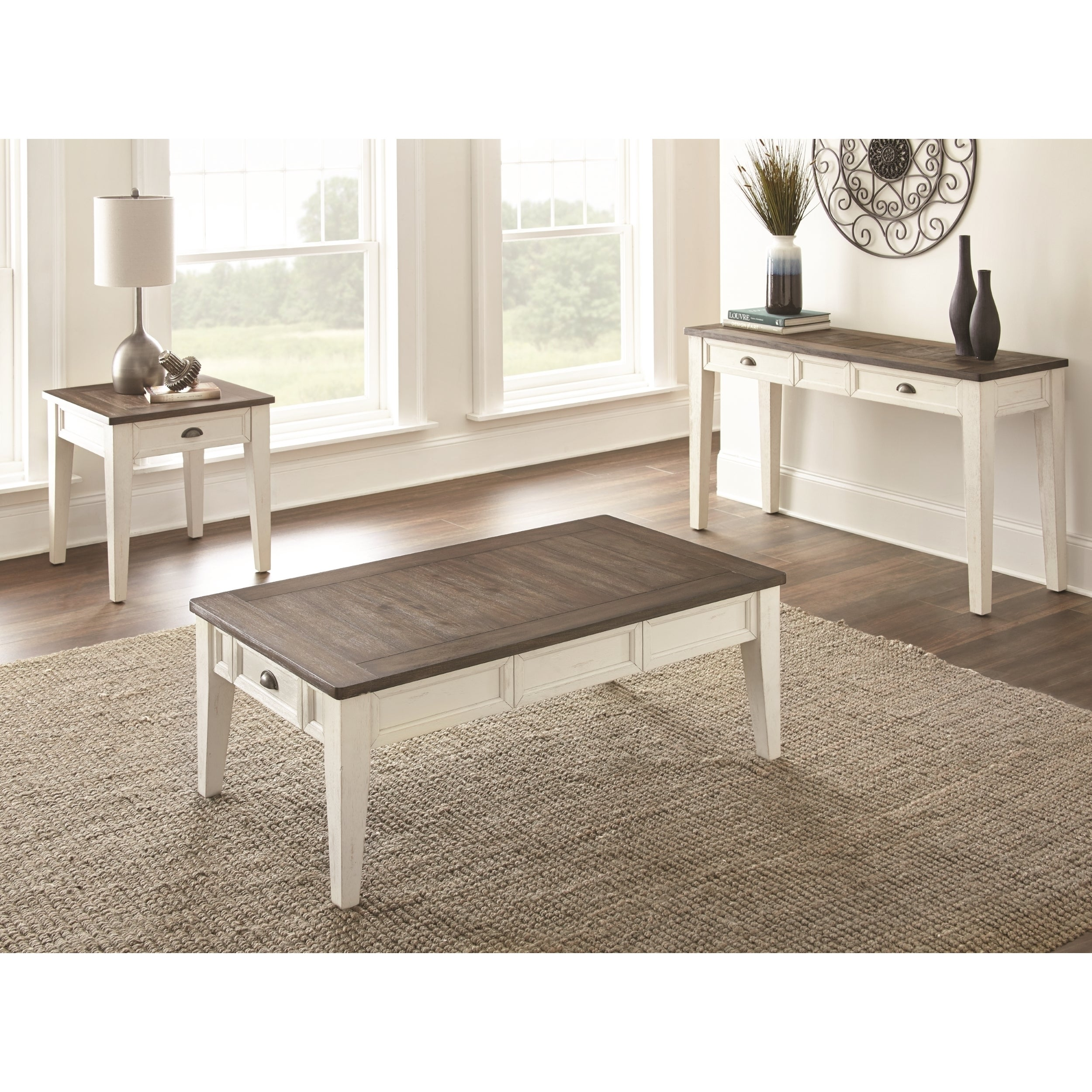 Cottonville Two Tone Coffee Table with Storage by Greyson Living ...