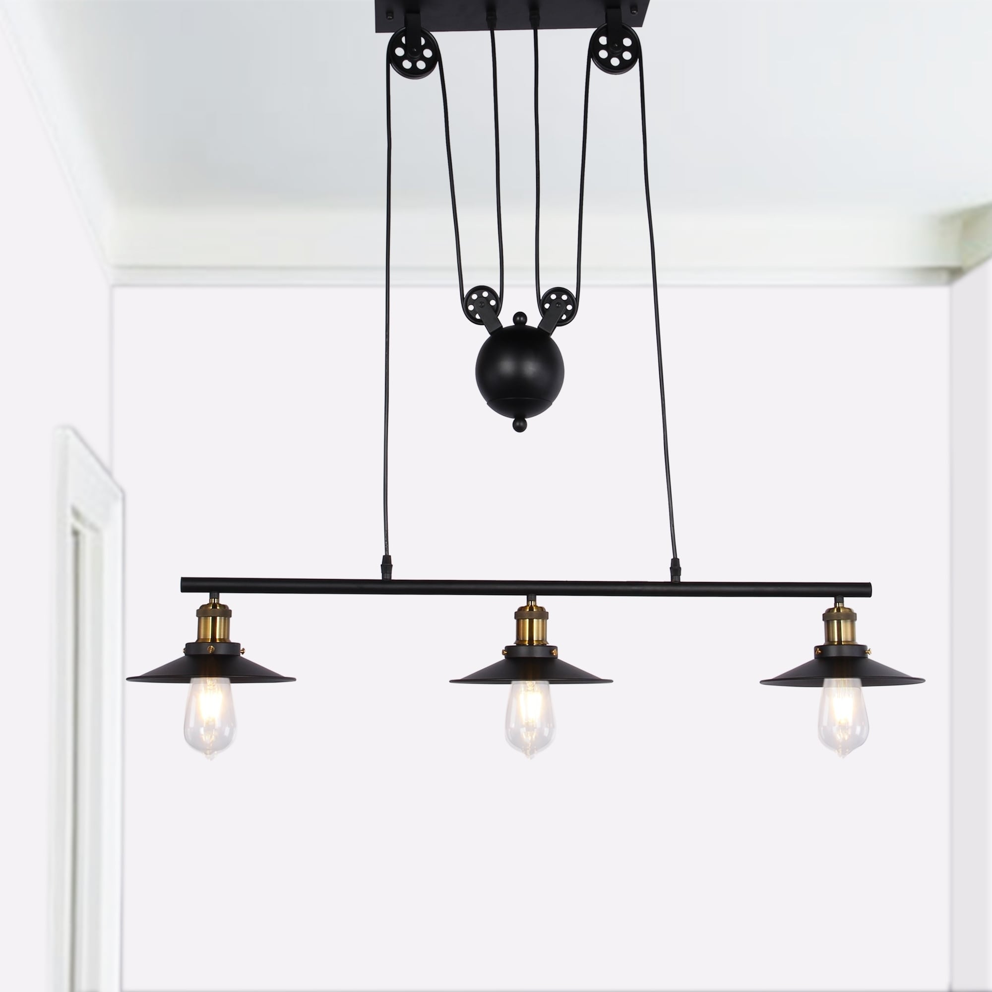 Shop darleen 3 light black 42 inch chandelier includes edison bulbs shop darleen 3 light black 42 inch chandelier includes edison bulbs free shipping today overstock 19792224 aloadofball
