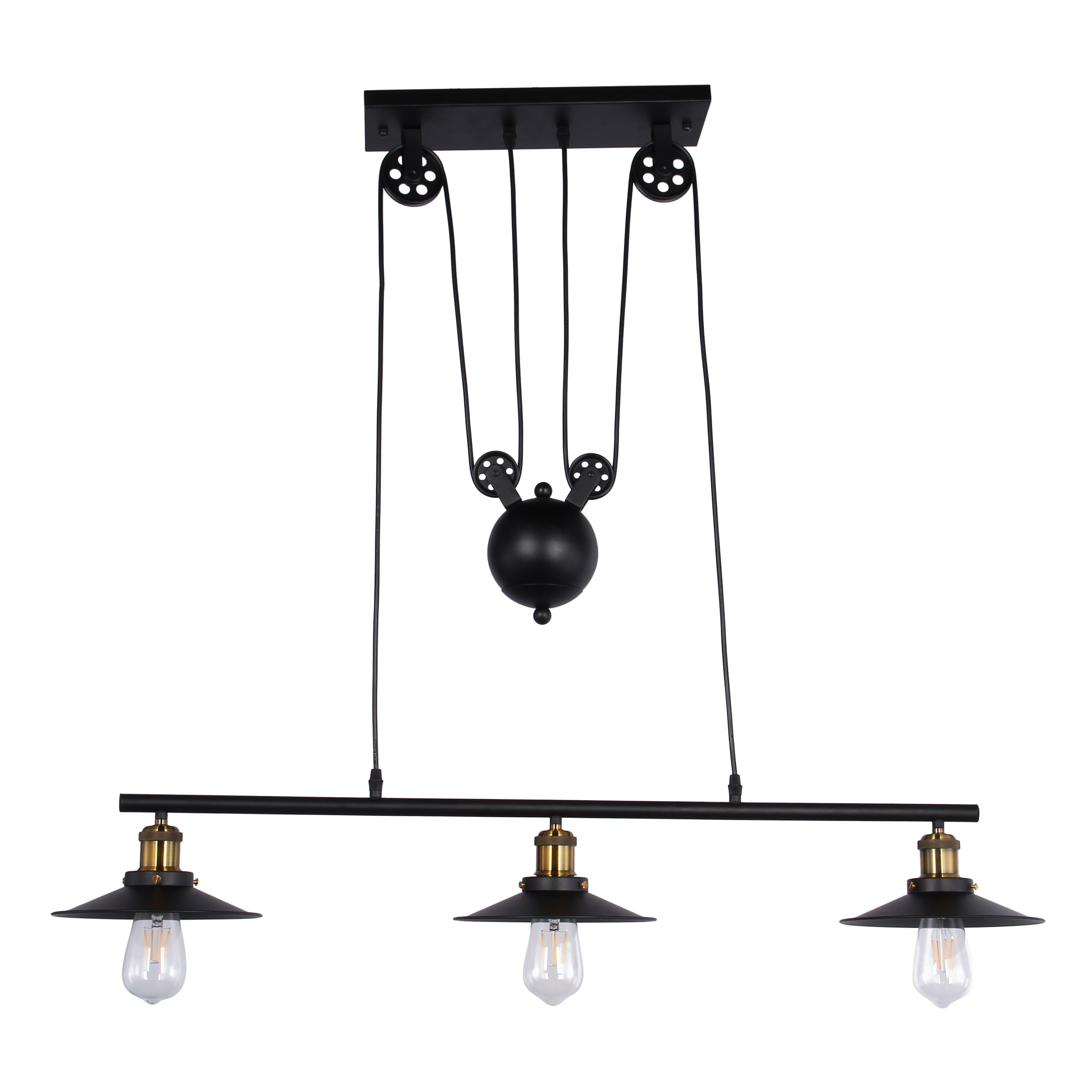 Darleen 3 light black 42 inch chandelier includes edison bulbs darleen 3 light black 42 inch chandelier includes edison bulbs free shipping today overstock 25729910 aloadofball Images