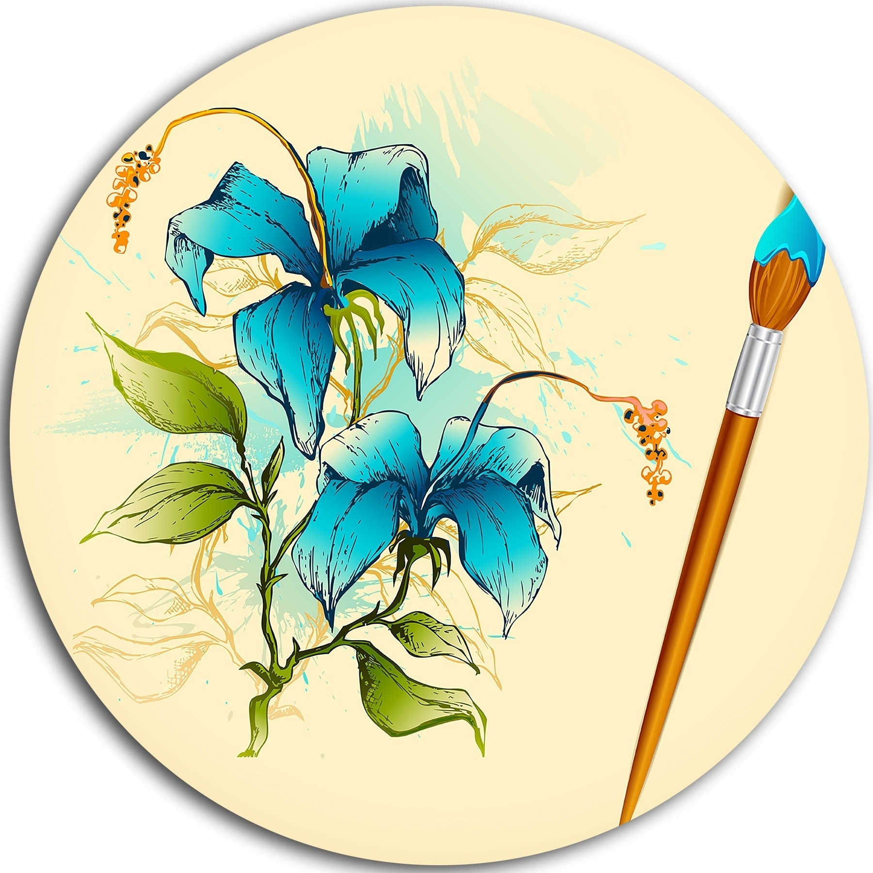 Fantastic Metal Wall Art Blue Gallery - The Wall Art Decorations ...