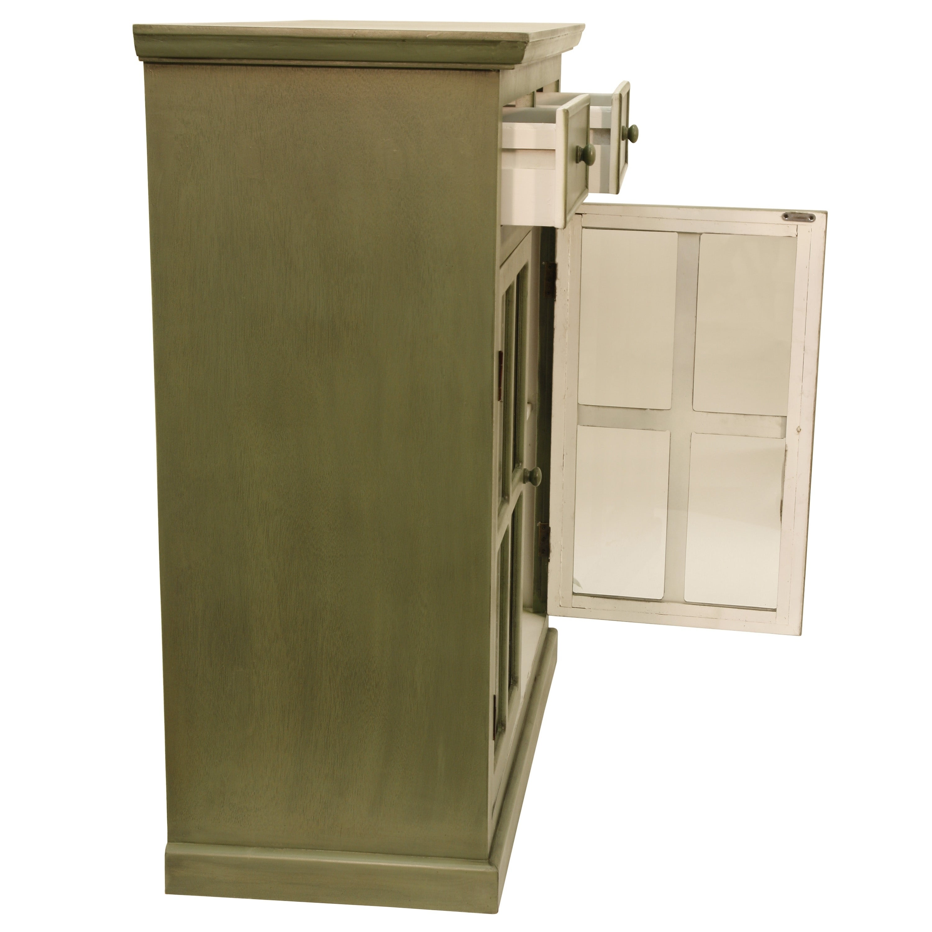 Shop Layla Glass Door Accent Cabinet Free Shipping Today