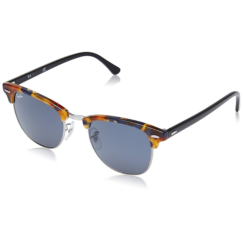 2f6d89ebf1 Ray-Ban Clubmaster Fleck Sunglasses Tortoise Black  Blue-Gray Classic 51mm