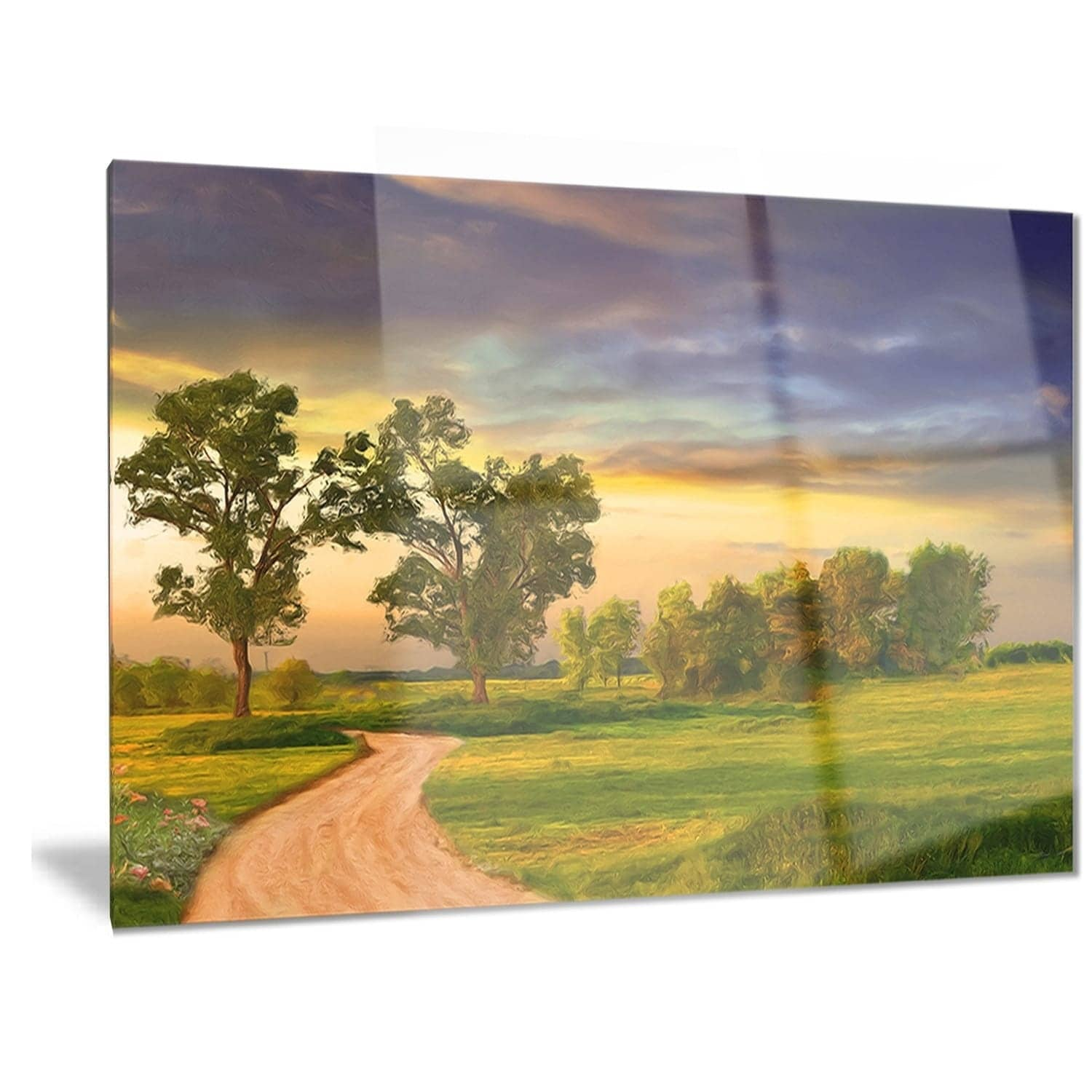 Designart \'Road to Bliss\' Landscape Metal Wall Art - Free Shipping ...
