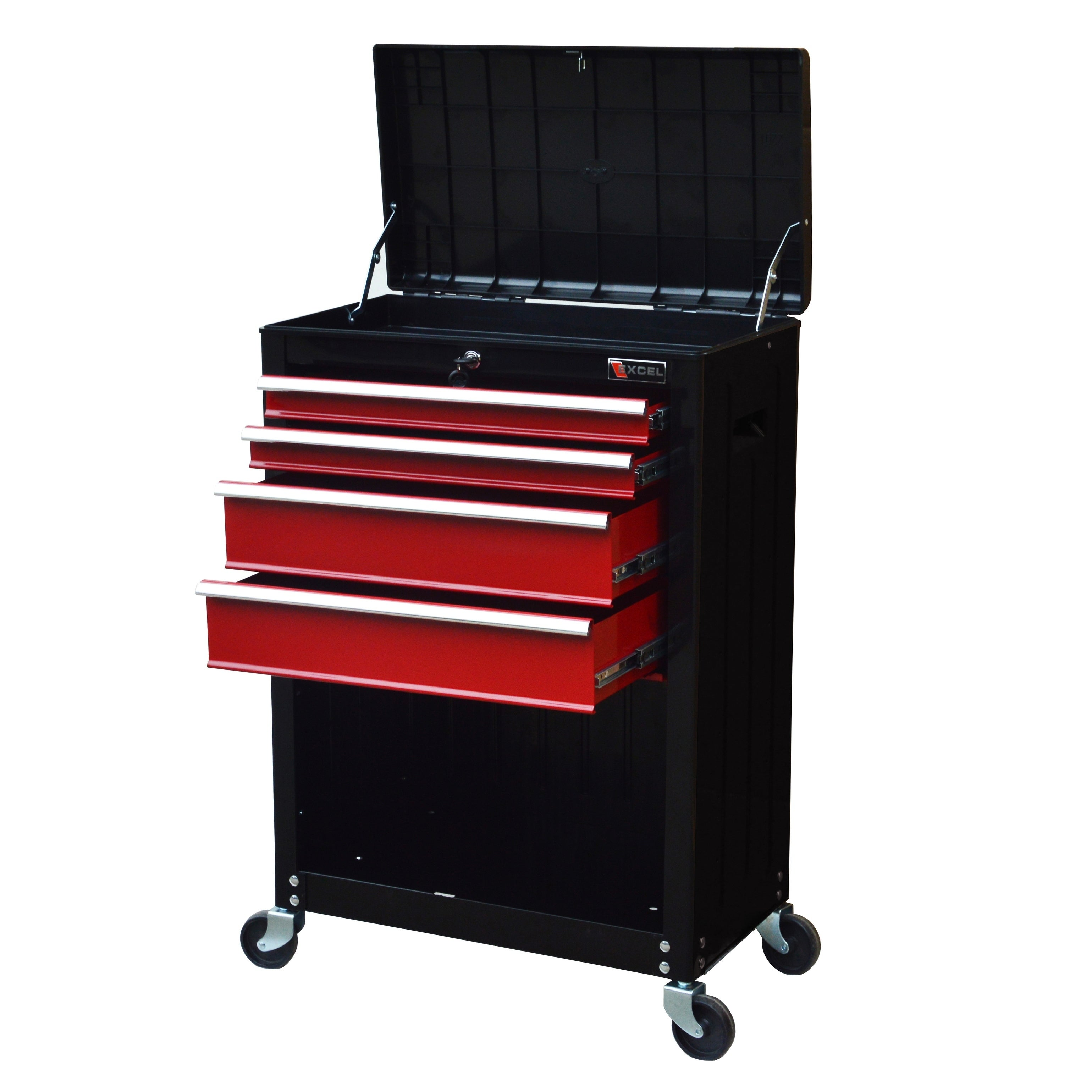 Shop Excel 22  Roller Tool Cabinet with 4 Ball Bearing Drawers - Free Shipping Today - Overstock.com - 19812835  sc 1 st  Overstock.com & Shop Excel 22