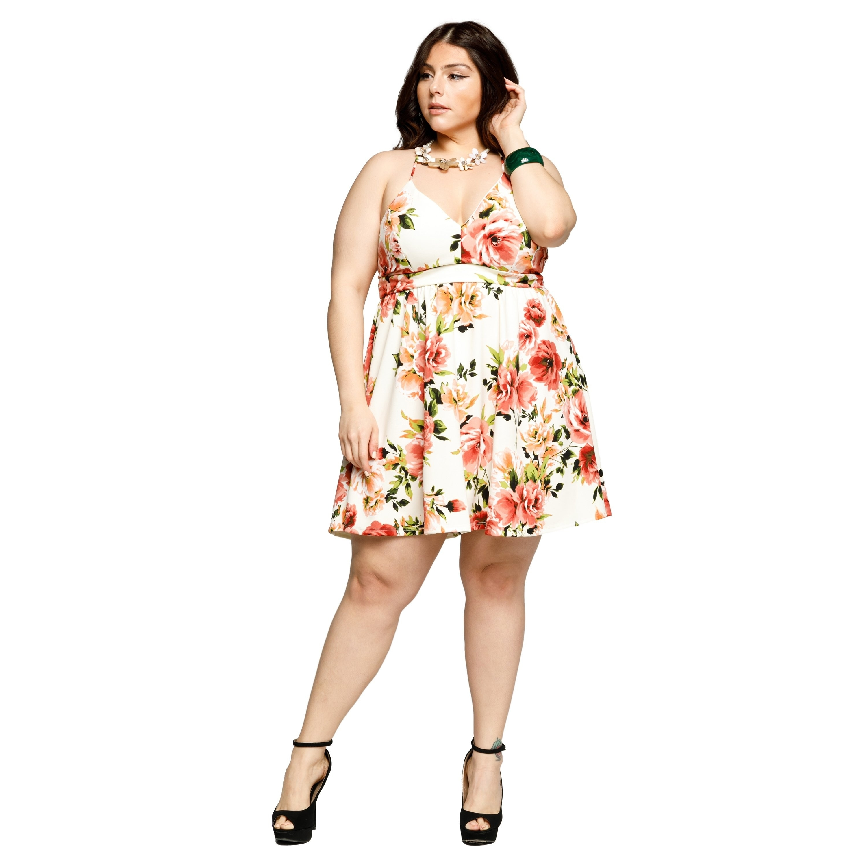 cf066abcef9 Shop Xehar Womens Plus Size Sexy Sleeveless Floral Short Mini Summer Dress  - Free Shipping On Orders Over  45 - Overstock.com - 19813001