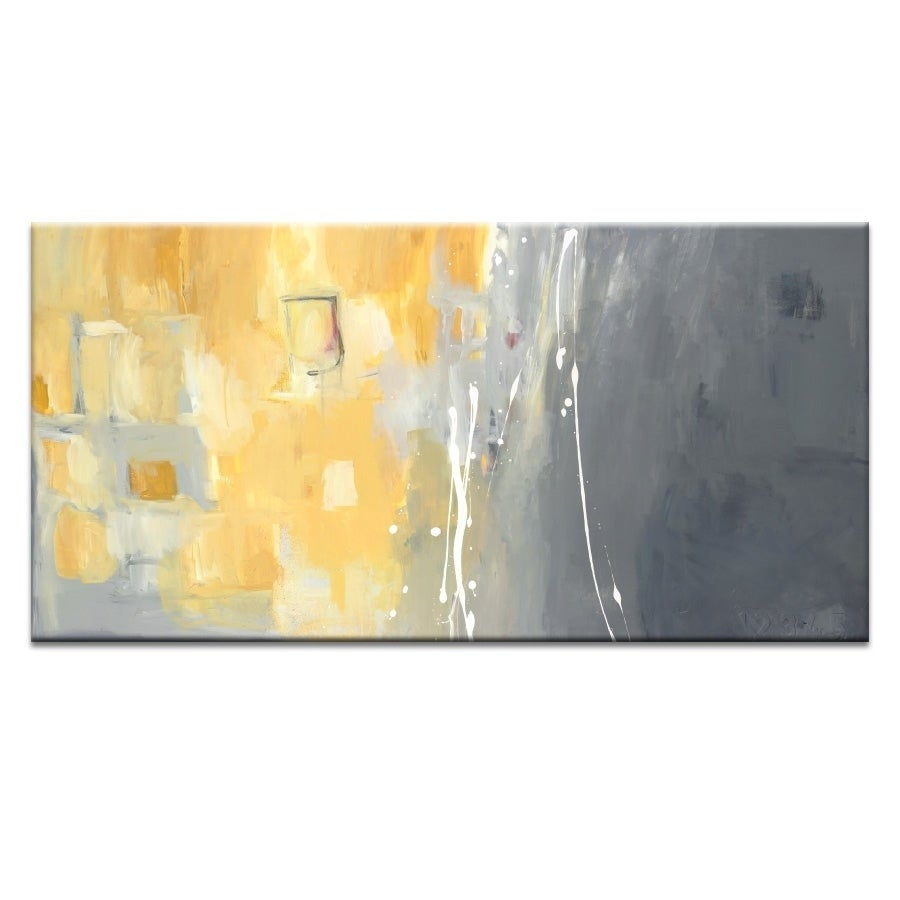 Artist Lane \'50 Shades of Gray and Yellow\' by Julie Ahmad Canvas ...