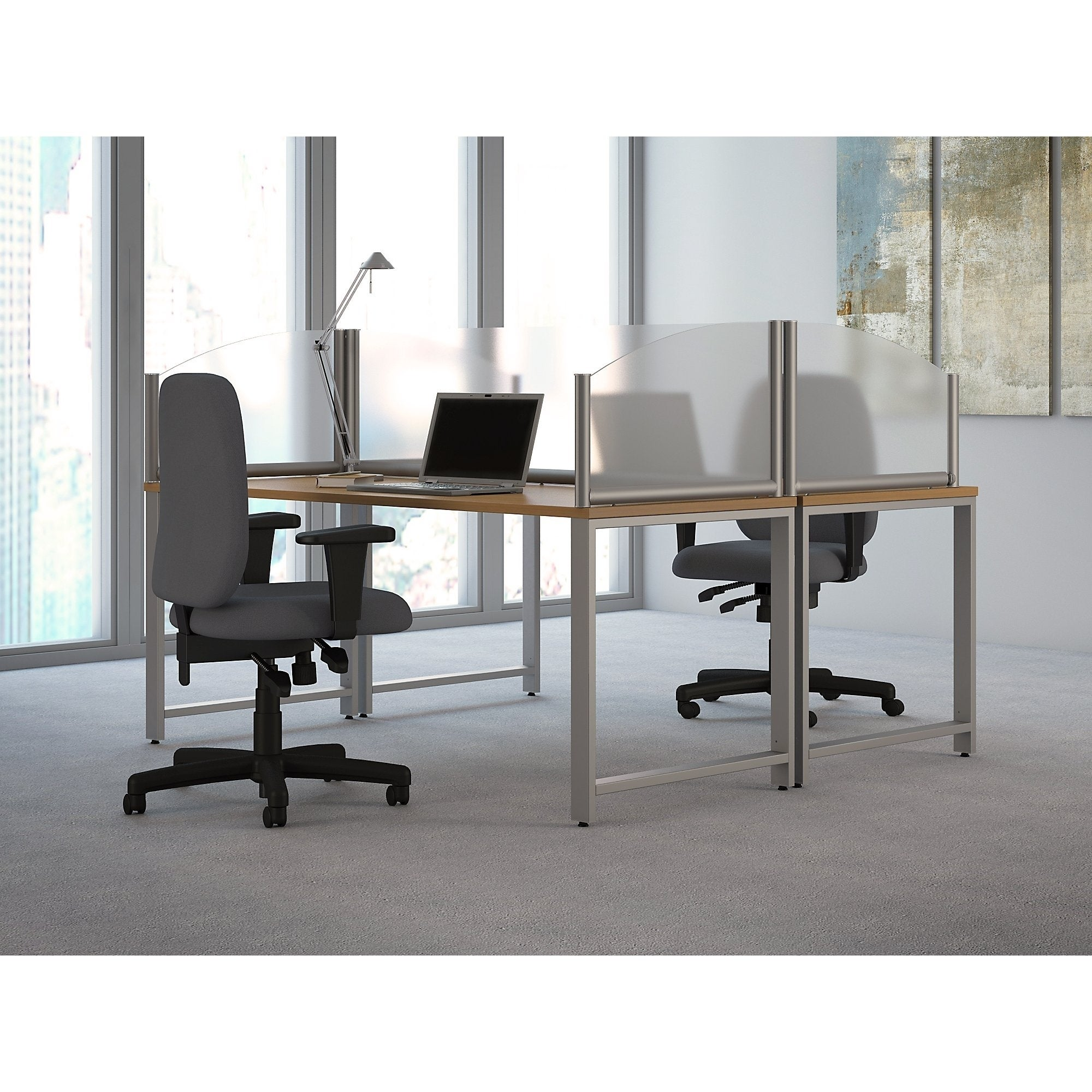 Bush Business Furniture 24W Desk Divider Privacy Panel   Free Shipping  Today   Overstock.com   25754164