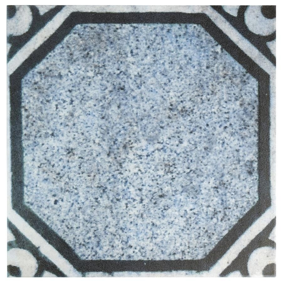Shop SomerTile 12.375x12.375-inch Zabit Azul Mix Ceramic Floor and ...