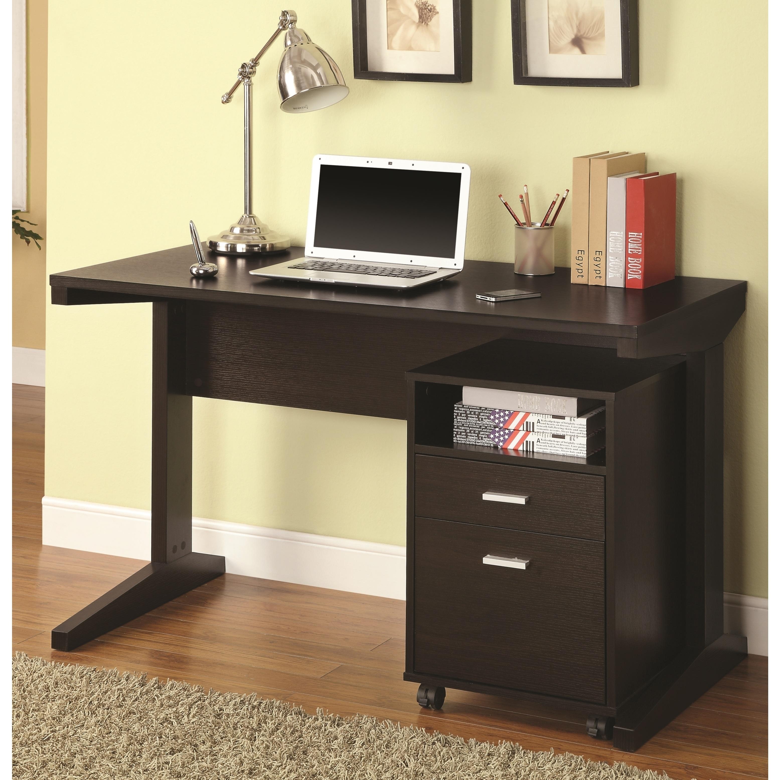 Shop Mid Century Modern Design Home Office Desk With Mobile File