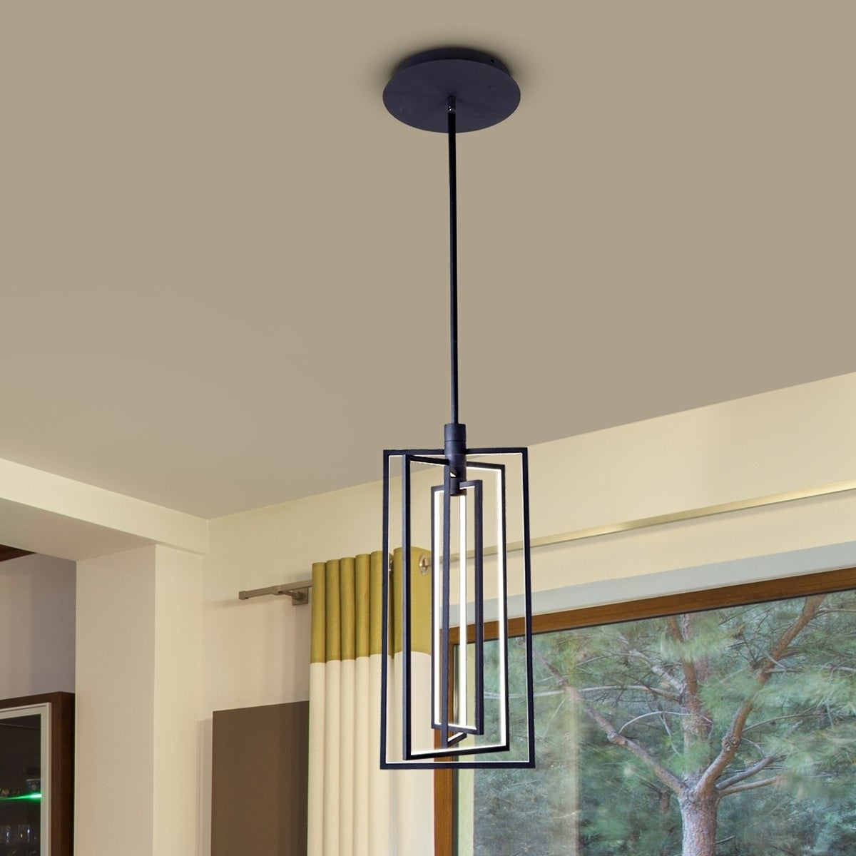 Shop vonn lighting vrp29204bl radium 12 inch integrated led shop vonn lighting vrp29204bl radium 12 inch integrated led rectangular rotating pendant light fixture on sale free shipping today overstock aloadofball Choice Image