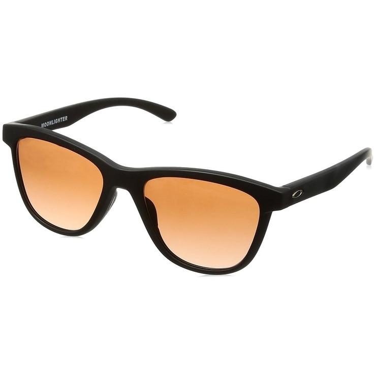 fe182b71607 Shop Oakley Moonlighter Sunglasses Matte Black  Brown 53mm - Black ...