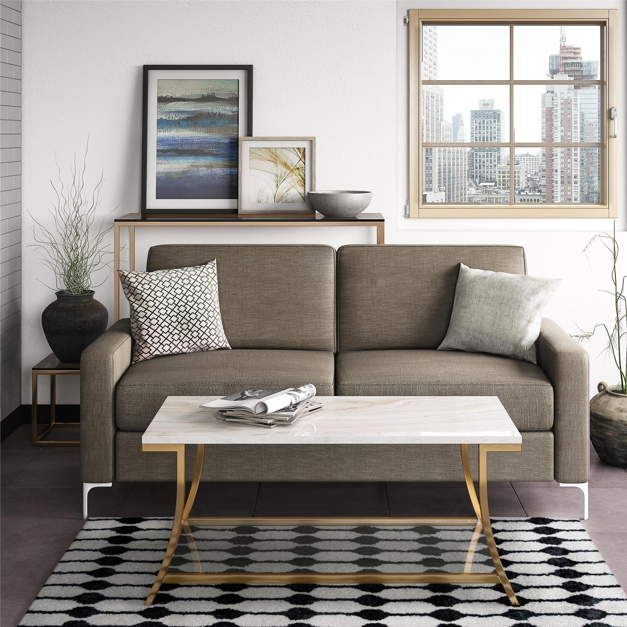 Novogratz holland taupe sofa