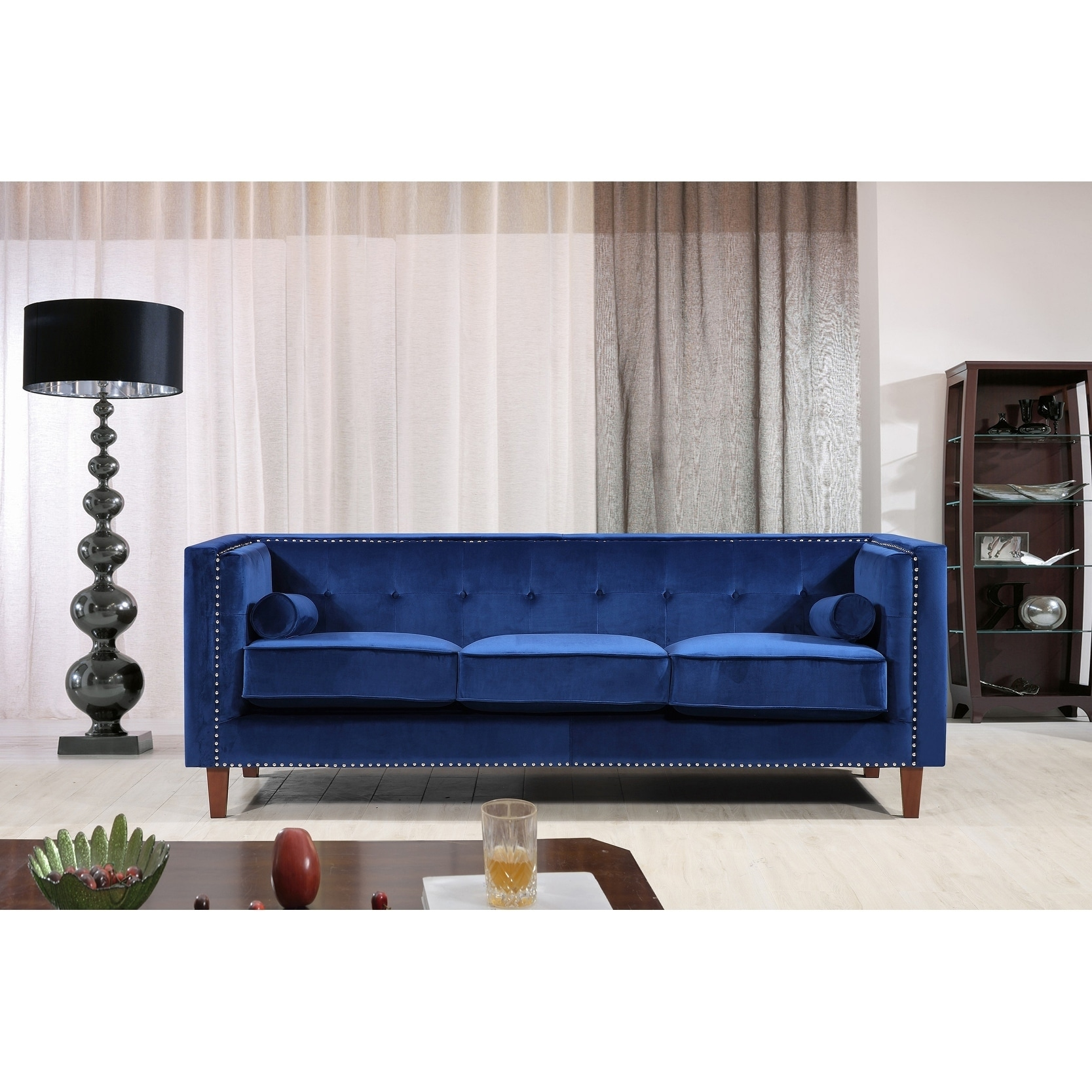 New Orleans Mid Century Nailhead Chesterfield Sofa 8 9 X 12 Free Shipping Today Com 19822454