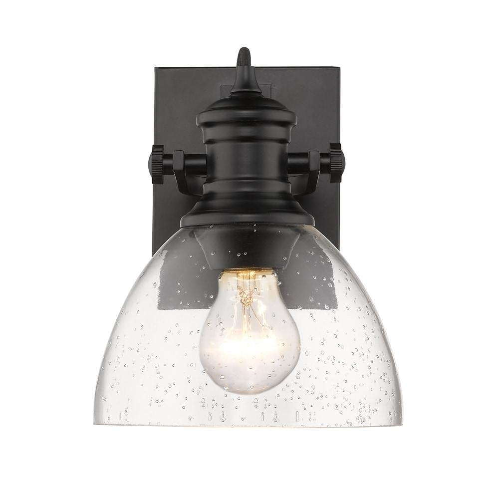 Golden Lighting S Hines 1 Light Bath Vanity 3118 Ba1 Blk Sd Free Shipping Today 19824663